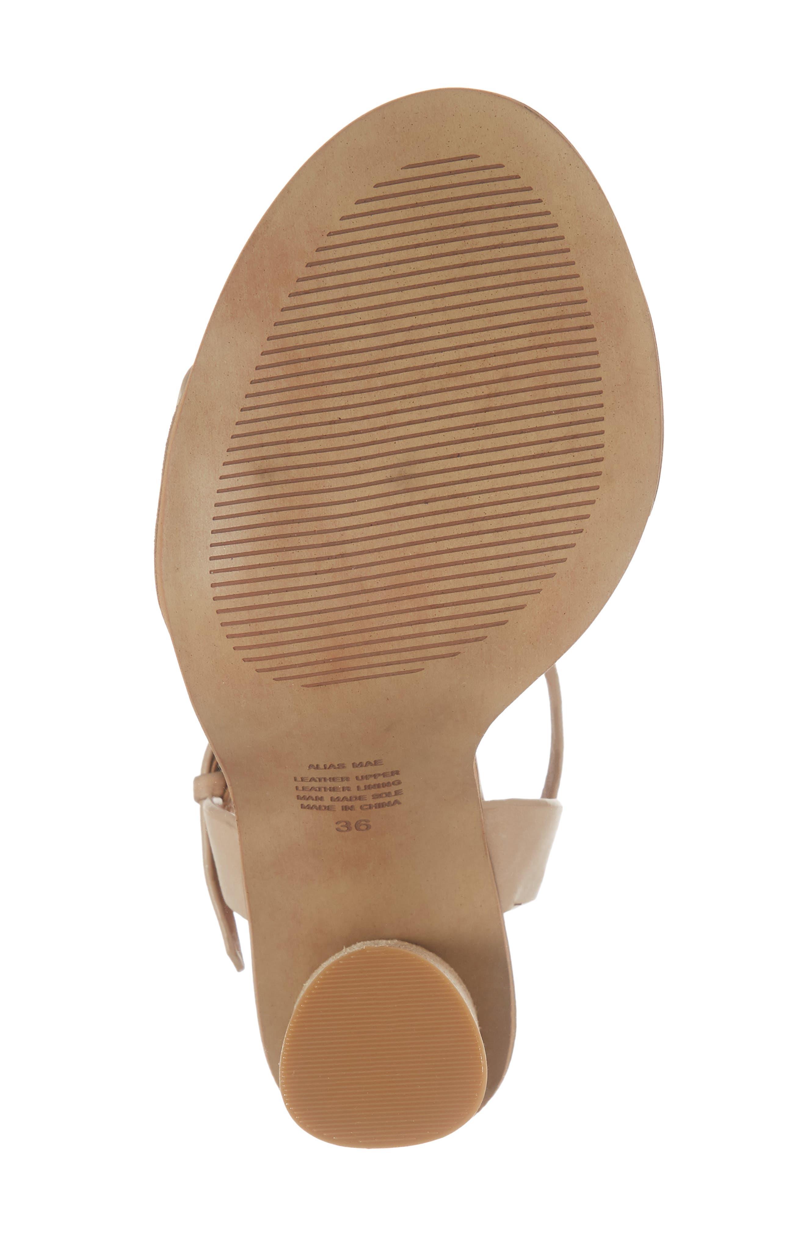 Abagail Sandal,                             Alternate thumbnail 6, color,                             Natural Leather