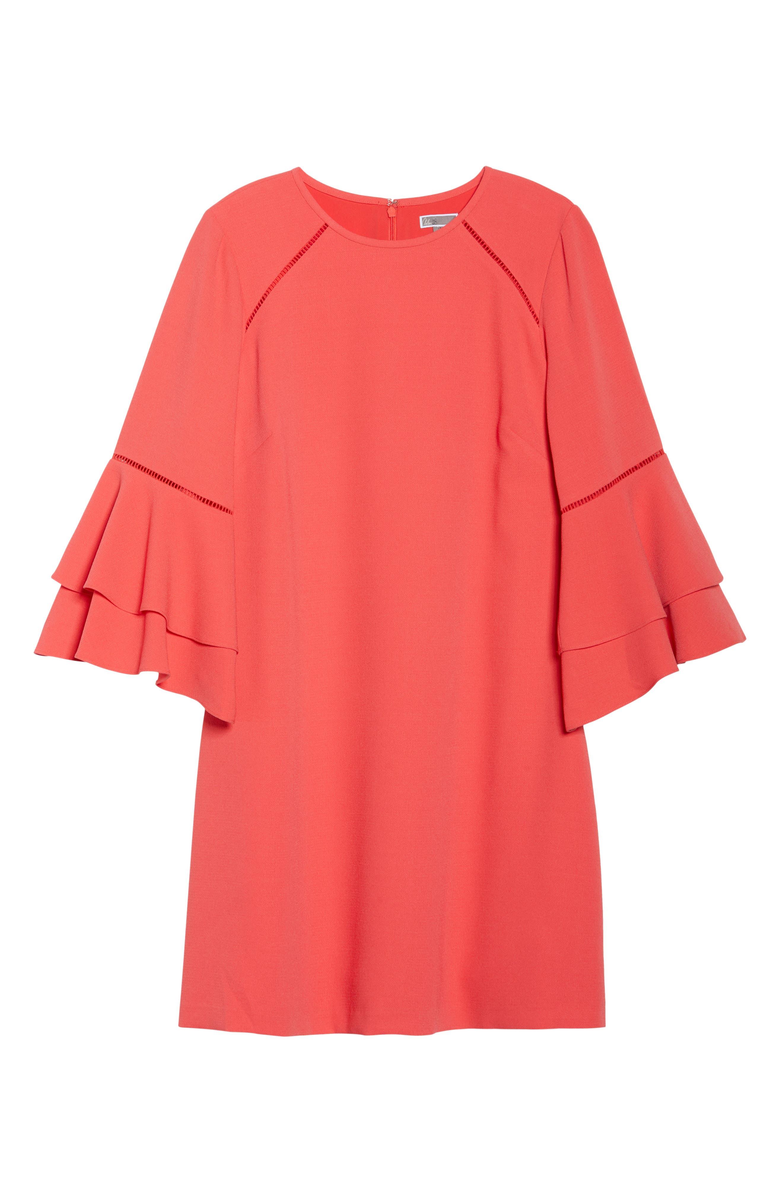 Alternate Image 6  - Chelsea28 Ruffle Bell Sleeve Shift Dress (Plus Size)