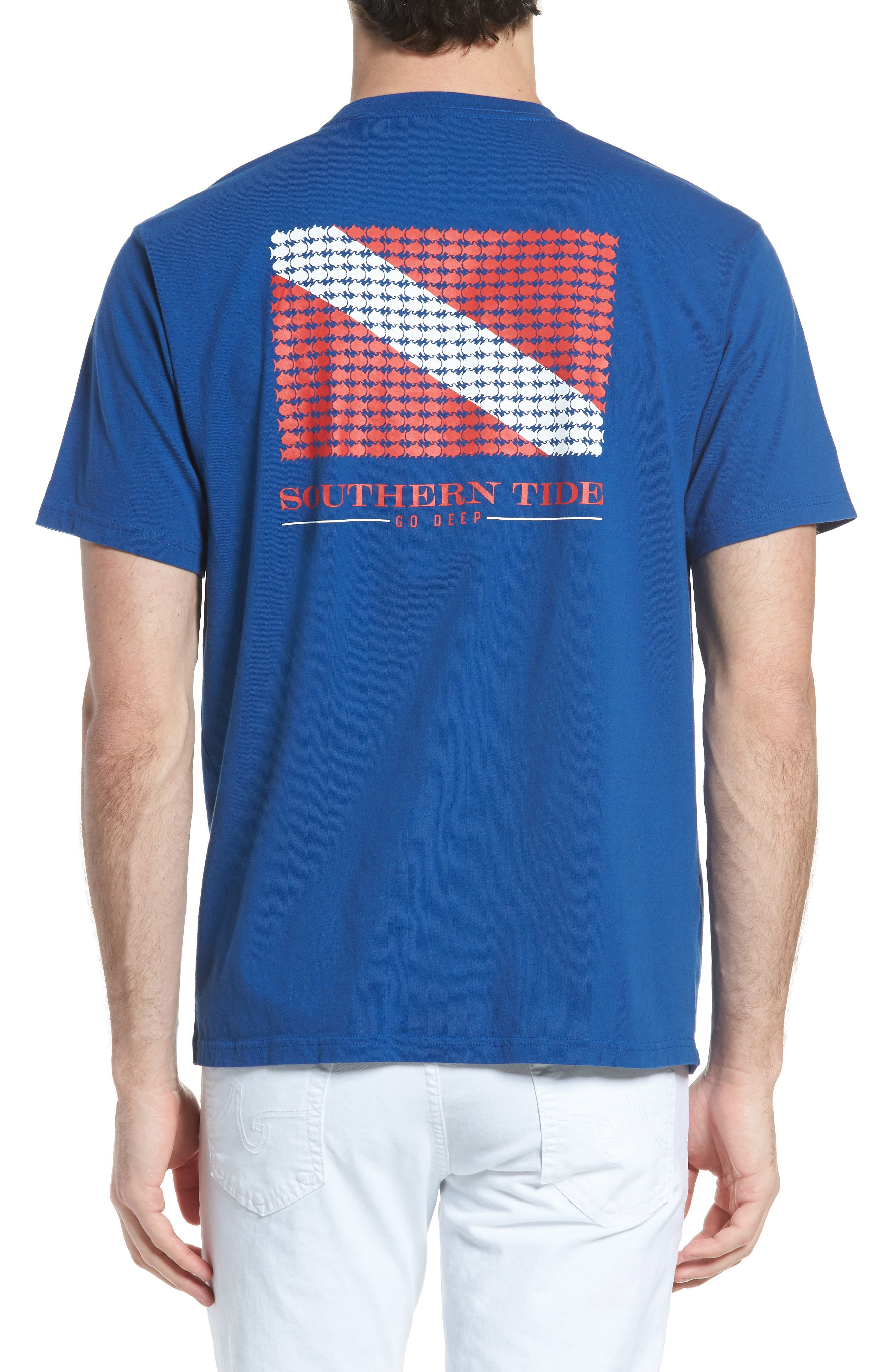 Go Deep Crewneck T-Shirt,                             Alternate thumbnail 2, color,                             Blue Lake