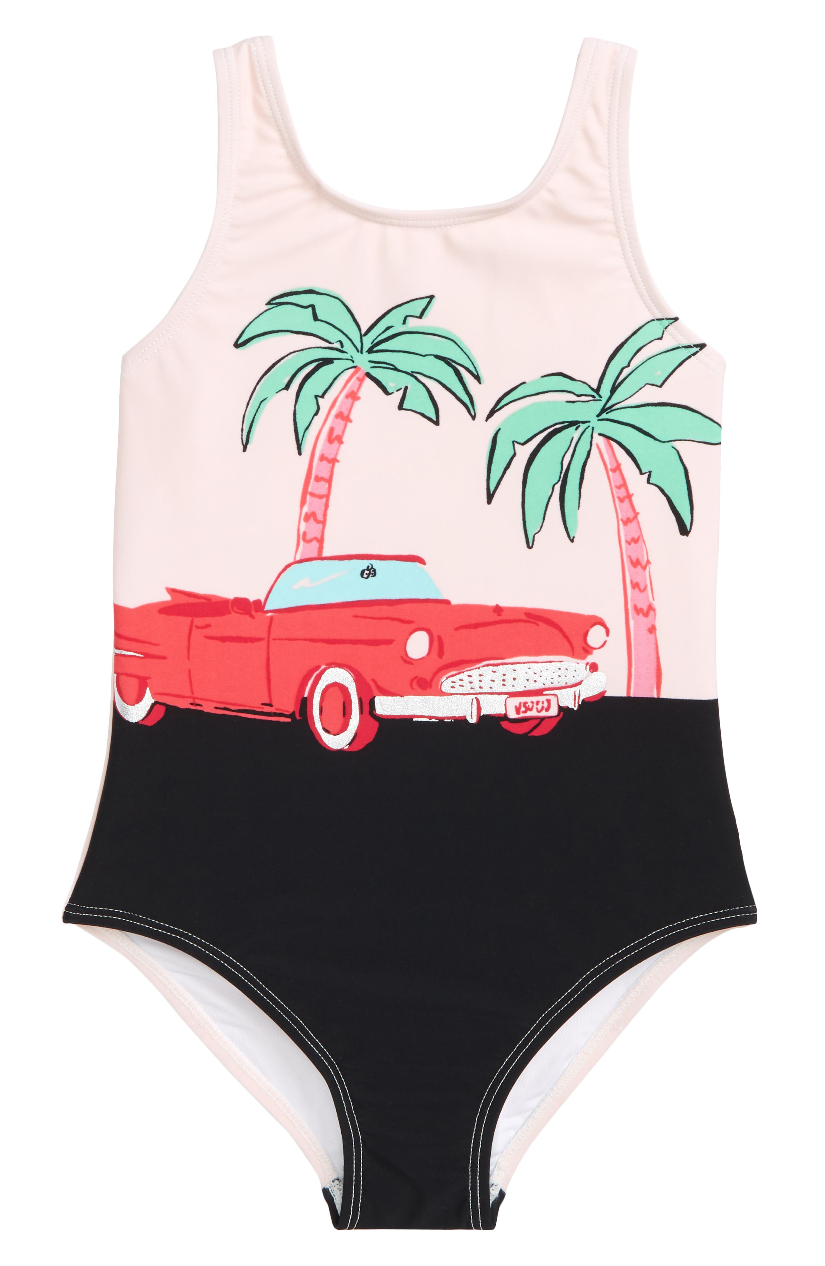 road trip one-piece swimsuit,                         Main,                         color, Sonata Pink