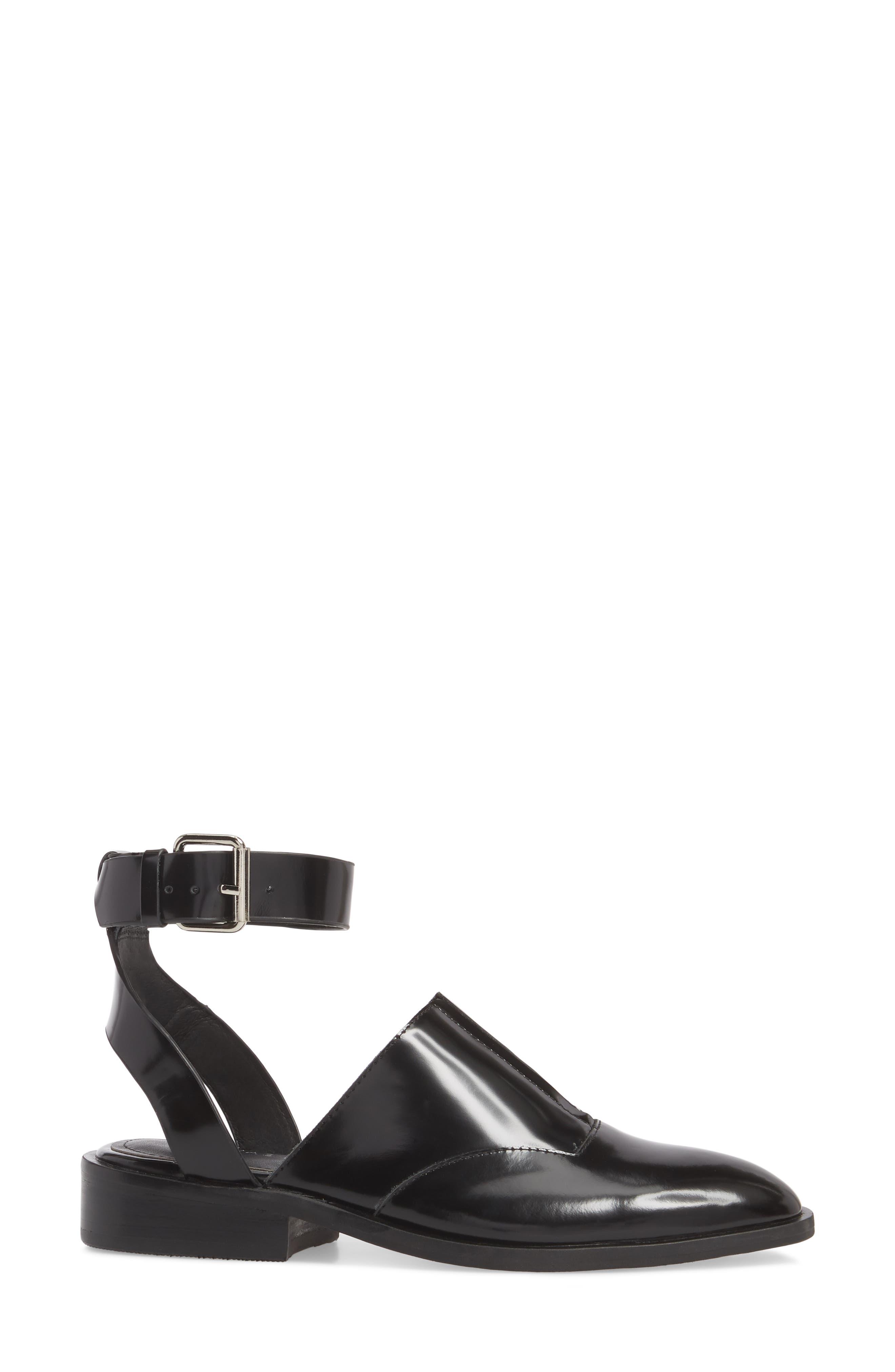 Nakita Sandal,                             Alternate thumbnail 3, color,                             Black Box Leather