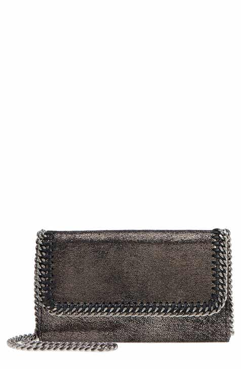 Stella McCartney Falabella Metallic Faux Chamois Crossbody Bag
