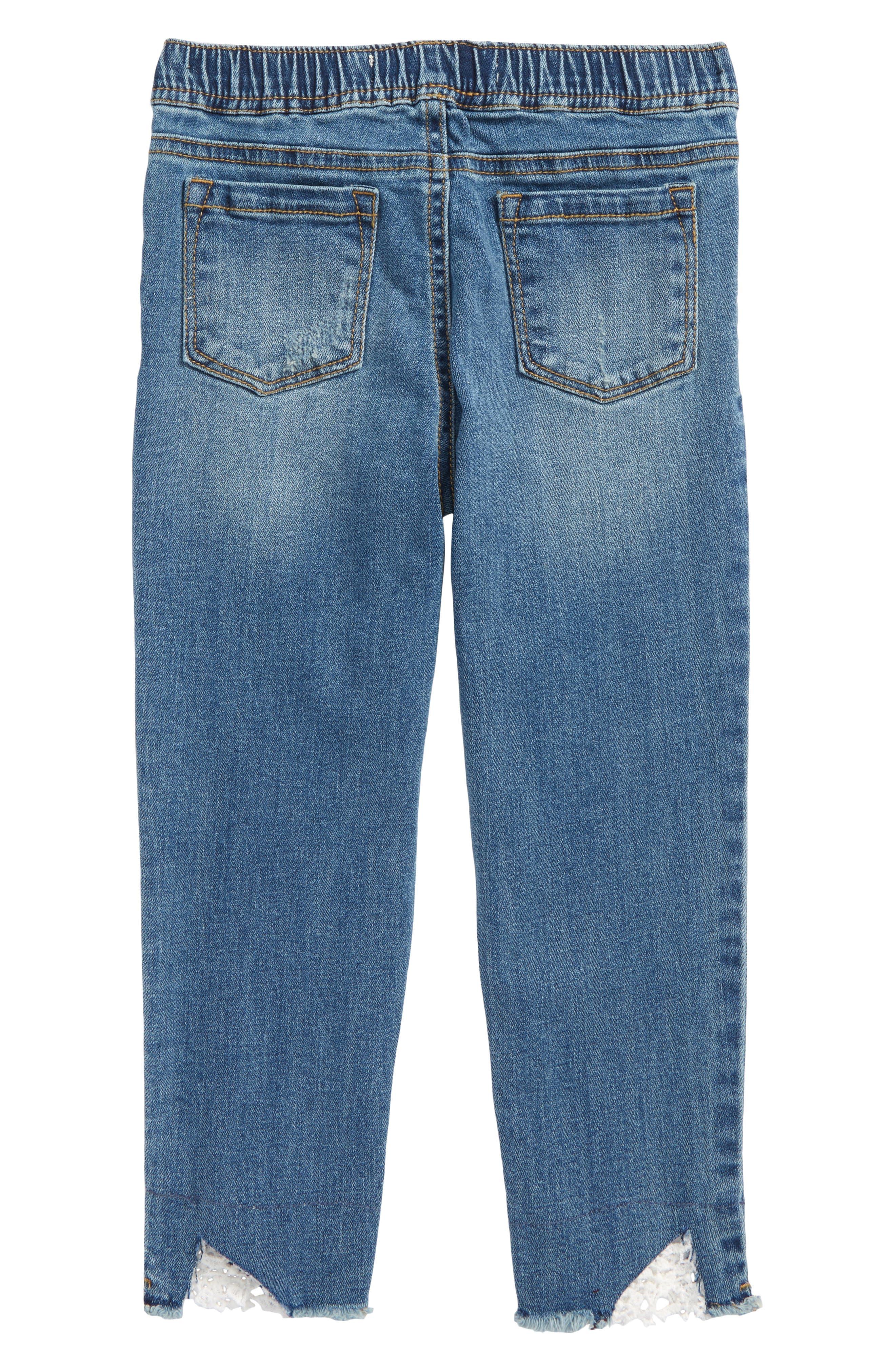 Crop Jeans,                             Alternate thumbnail 2, color,                             Lagoon Wash