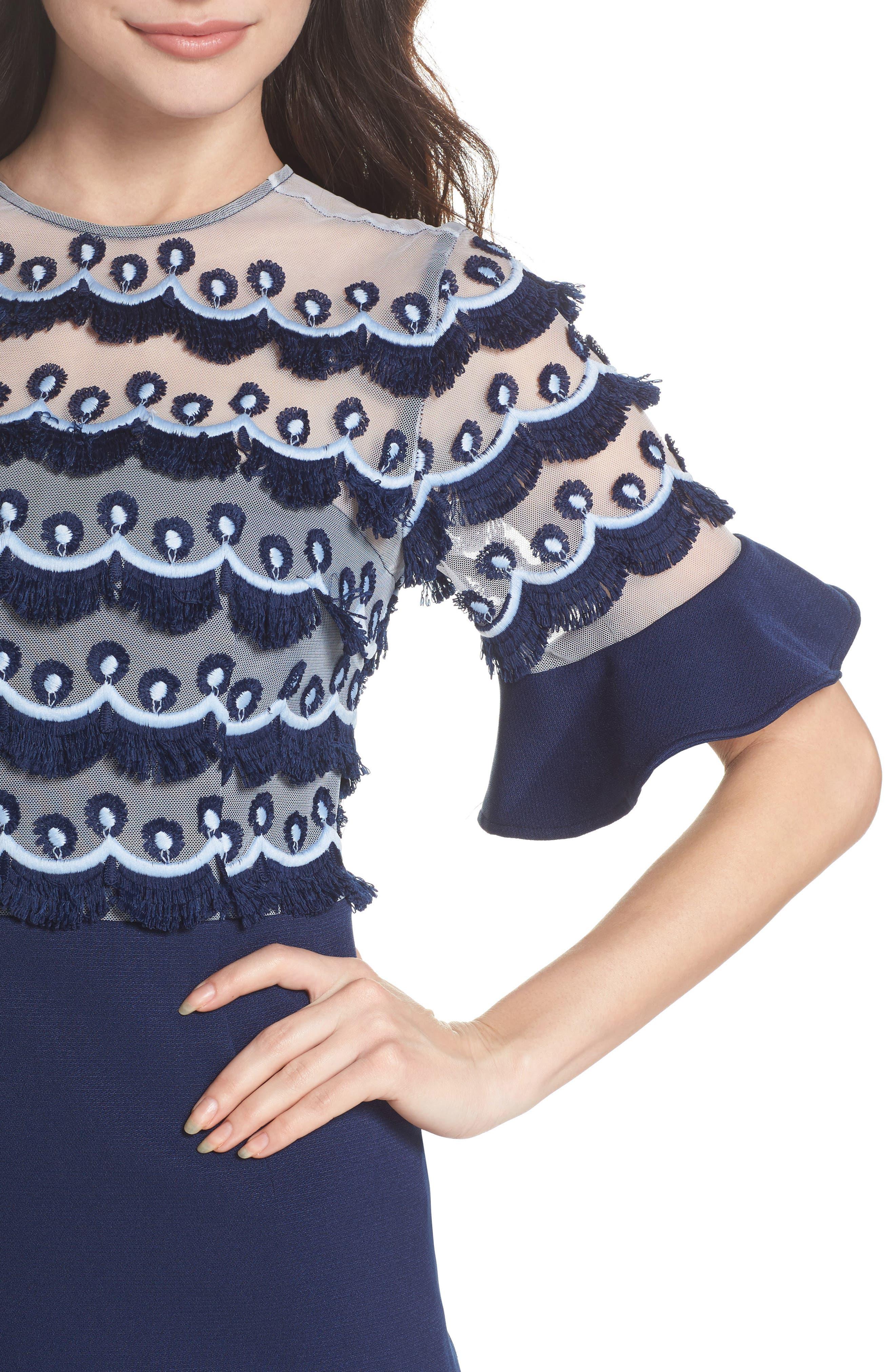 Alternate Image 4  - Keepsake the Label No Promises Fringe Panel Minidress