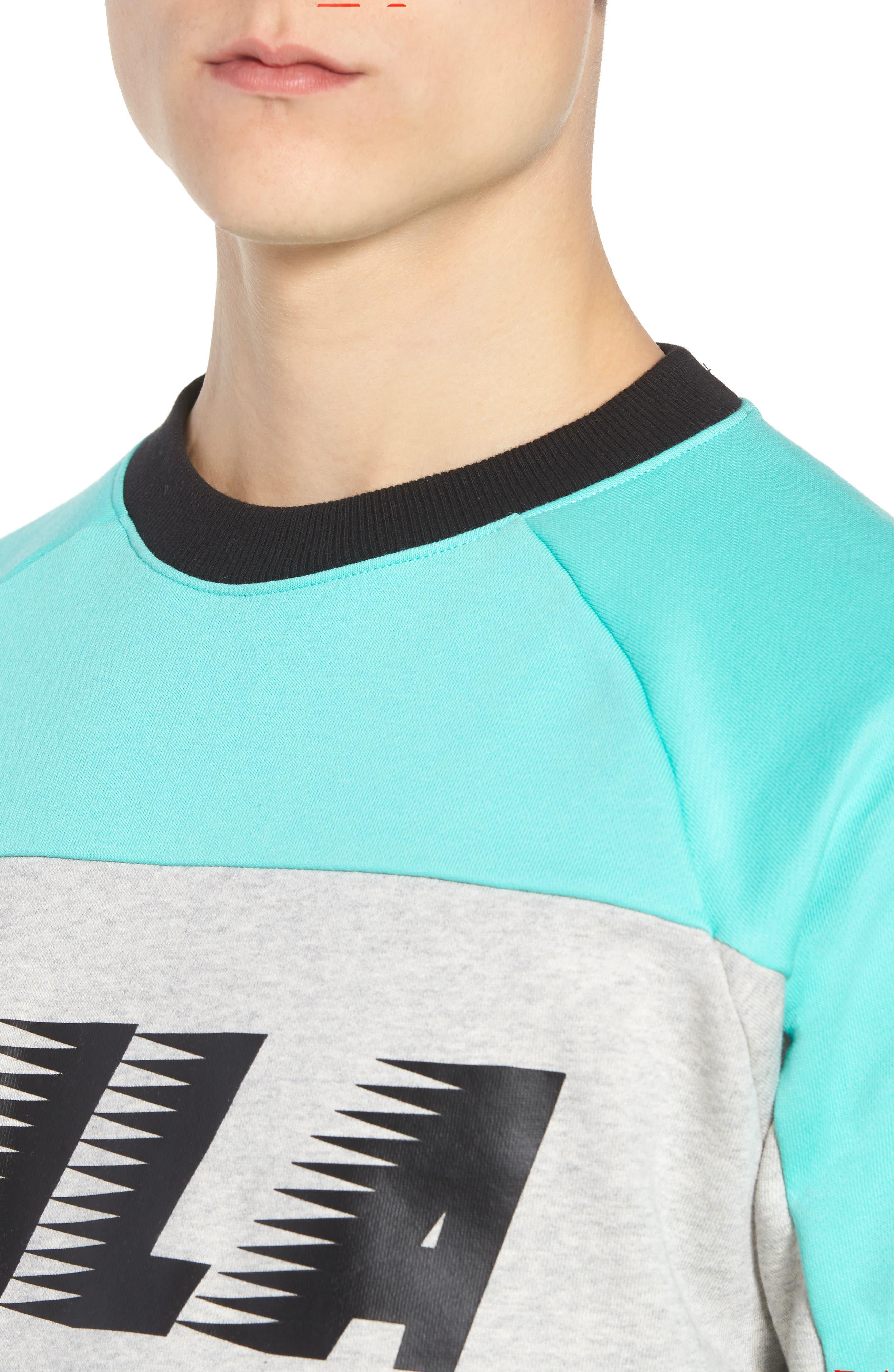 Layton Sweatshirt,                             Alternate thumbnail 4, color,                             Black/ Cockatoo/ Grey Marl