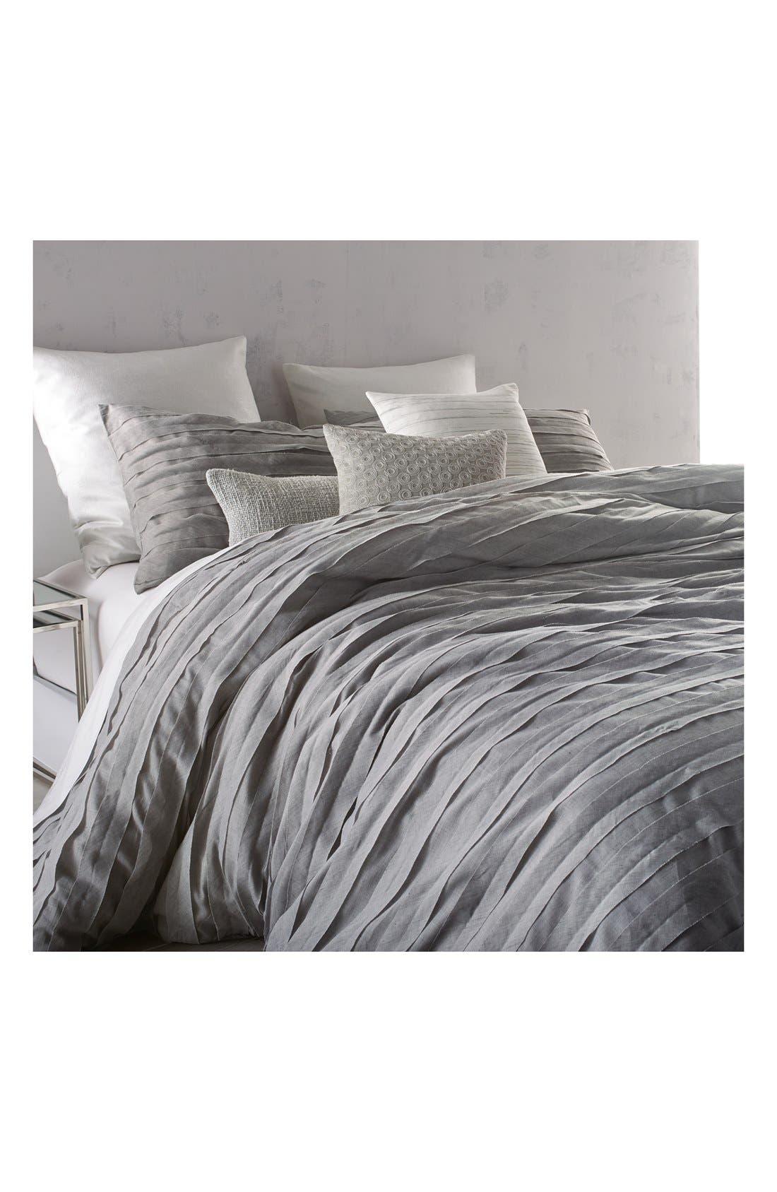 'Loft Stripe' Duvet Cover,                             Alternate thumbnail 3, color,                             Grey
