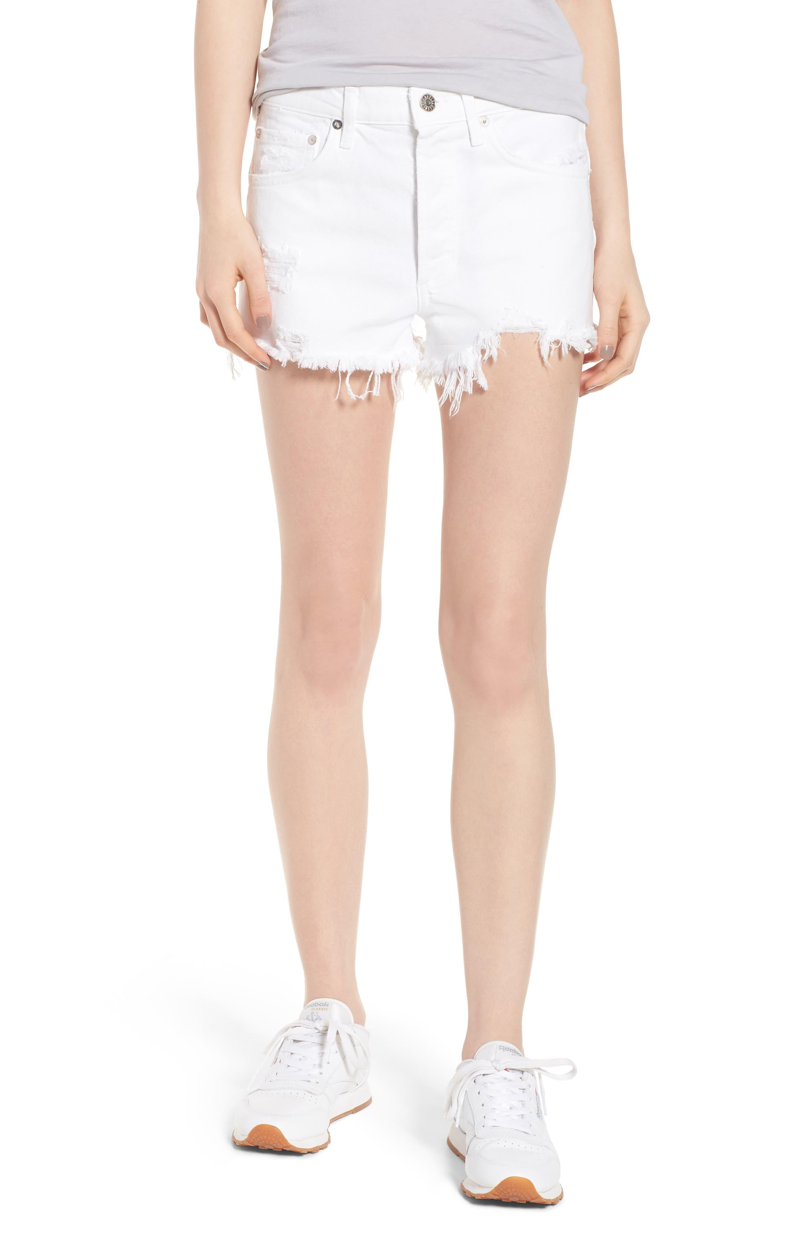 Main Image - AGOLDE Parker Distressed Denim Shorts (Detour)