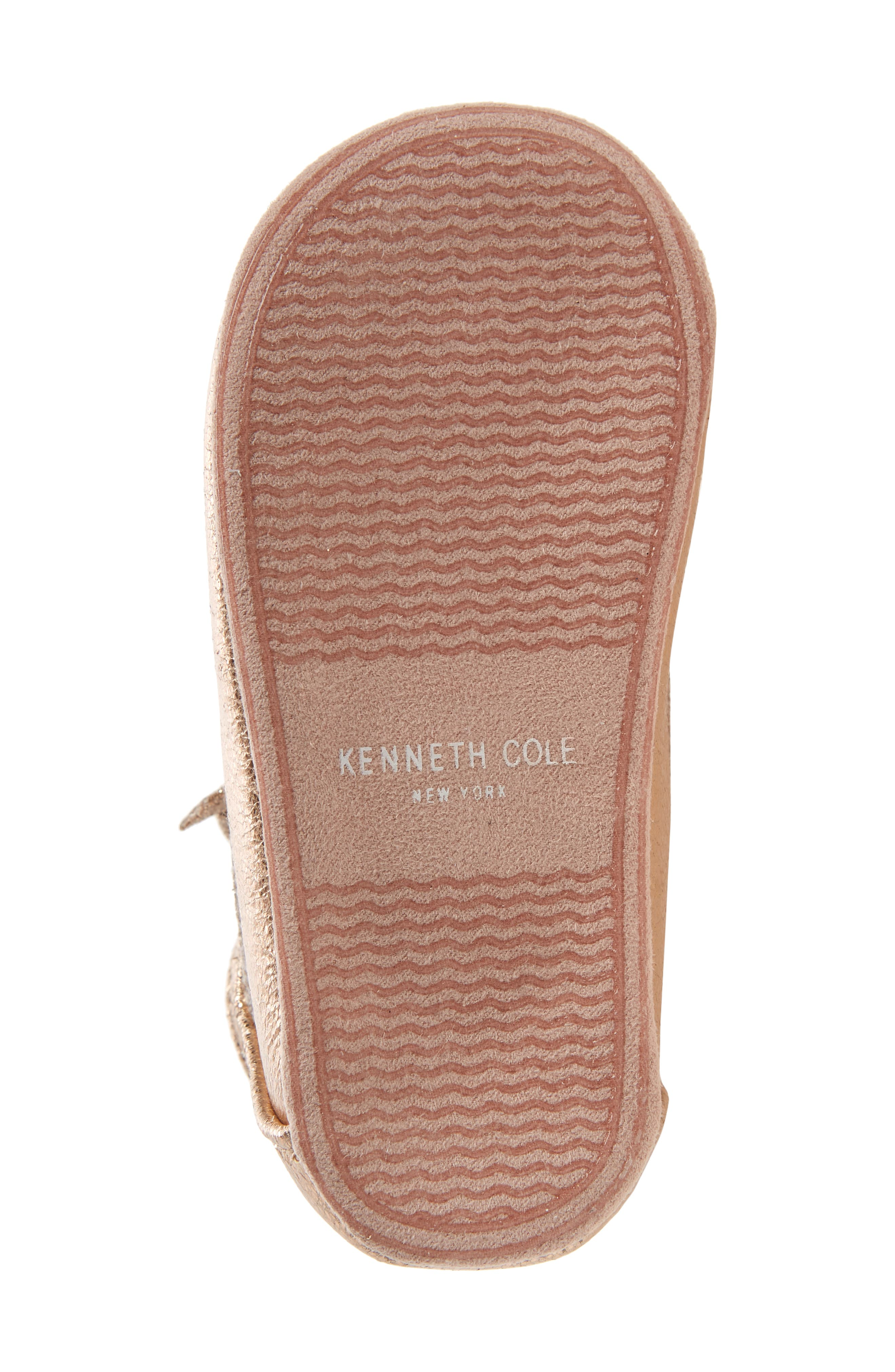 Alternate Image 6  - Kenneth Cole New York Rose Bow Metallic Ballet Flat (Baby)