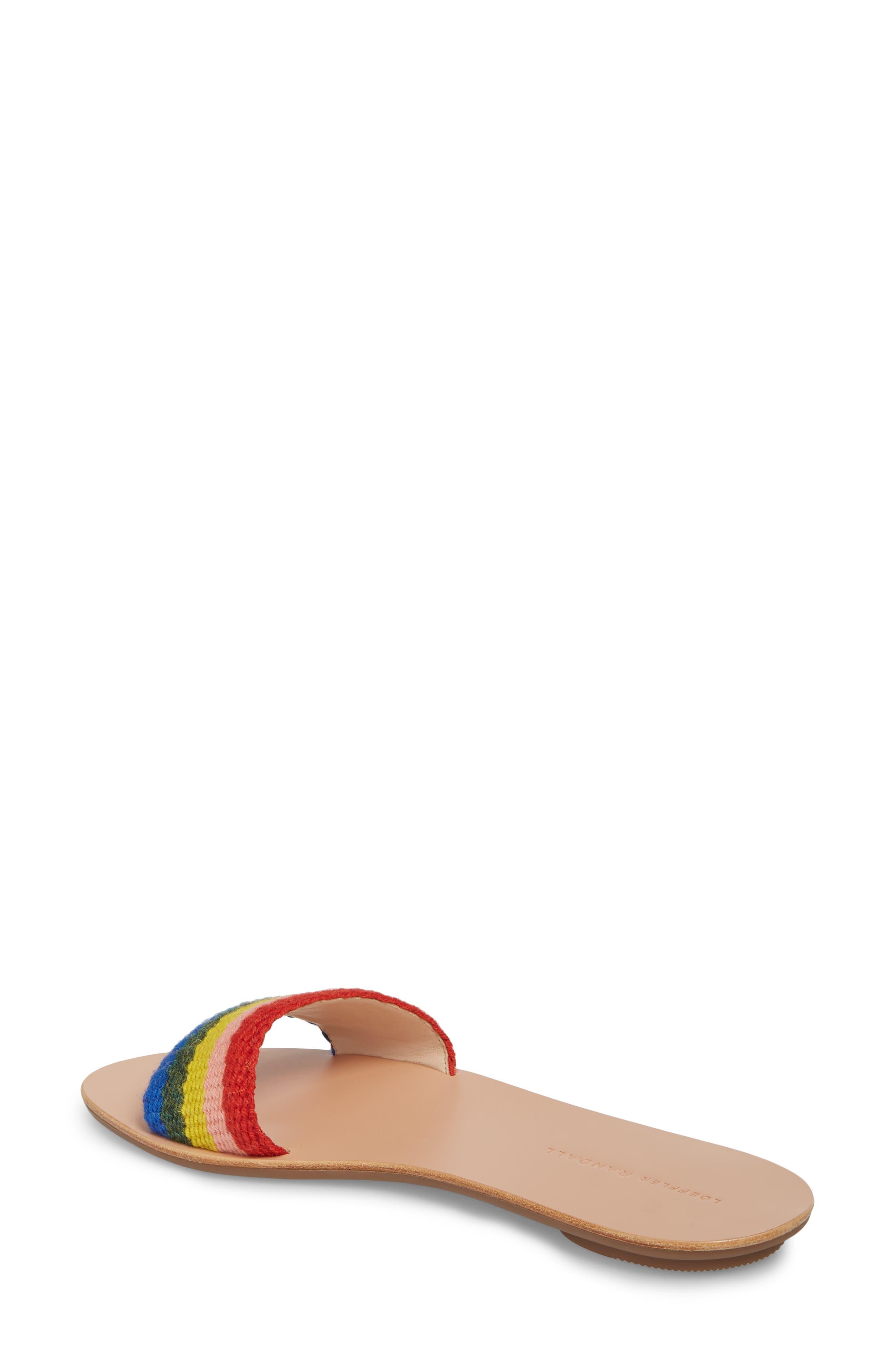 Stella Woven Slide Sandal,                             Alternate thumbnail 2, color,                             Rainbow Fabric