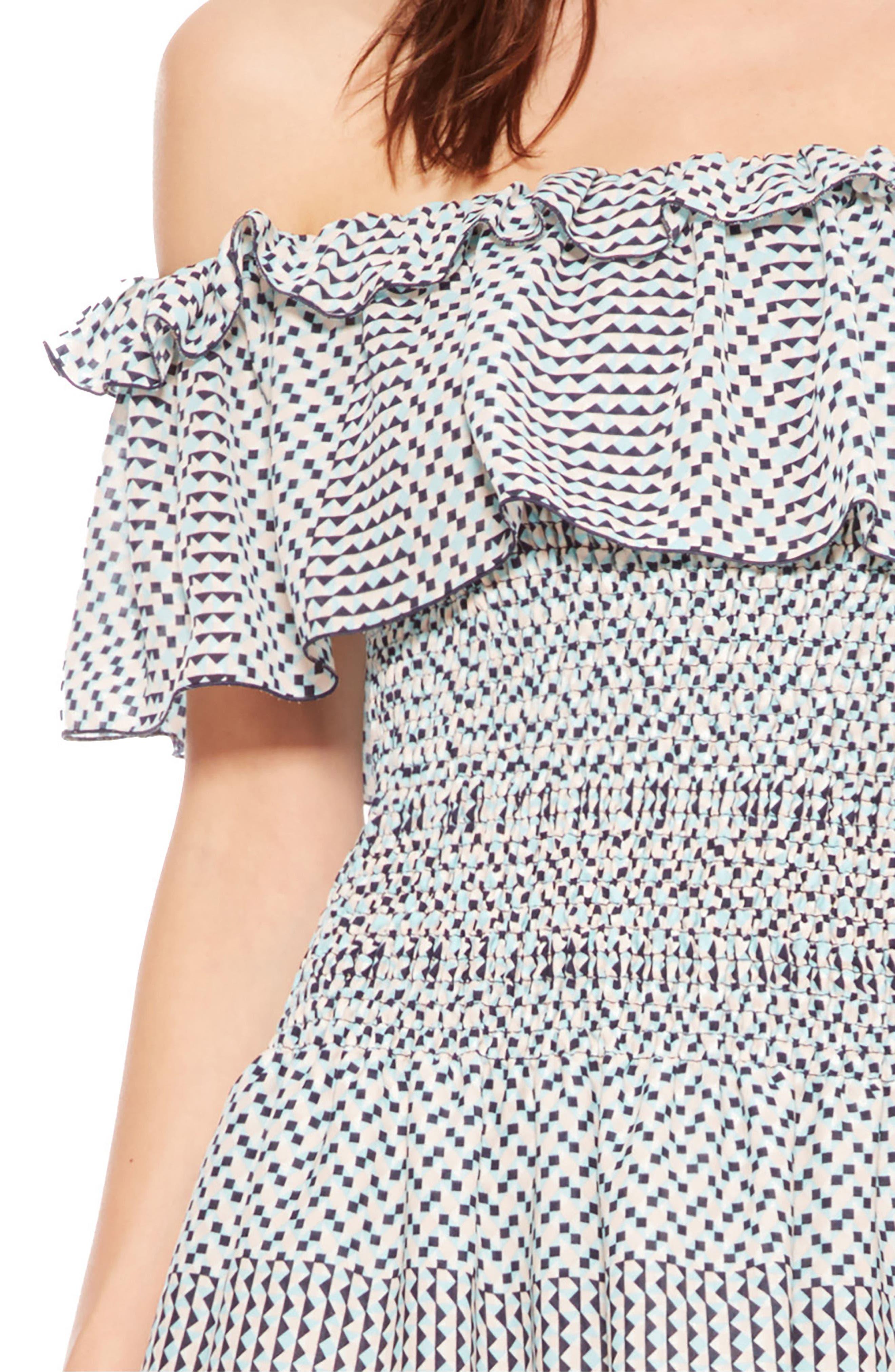 Hali Off the Shoulder Dress,                             Alternate thumbnail 5, color,                             Isadora