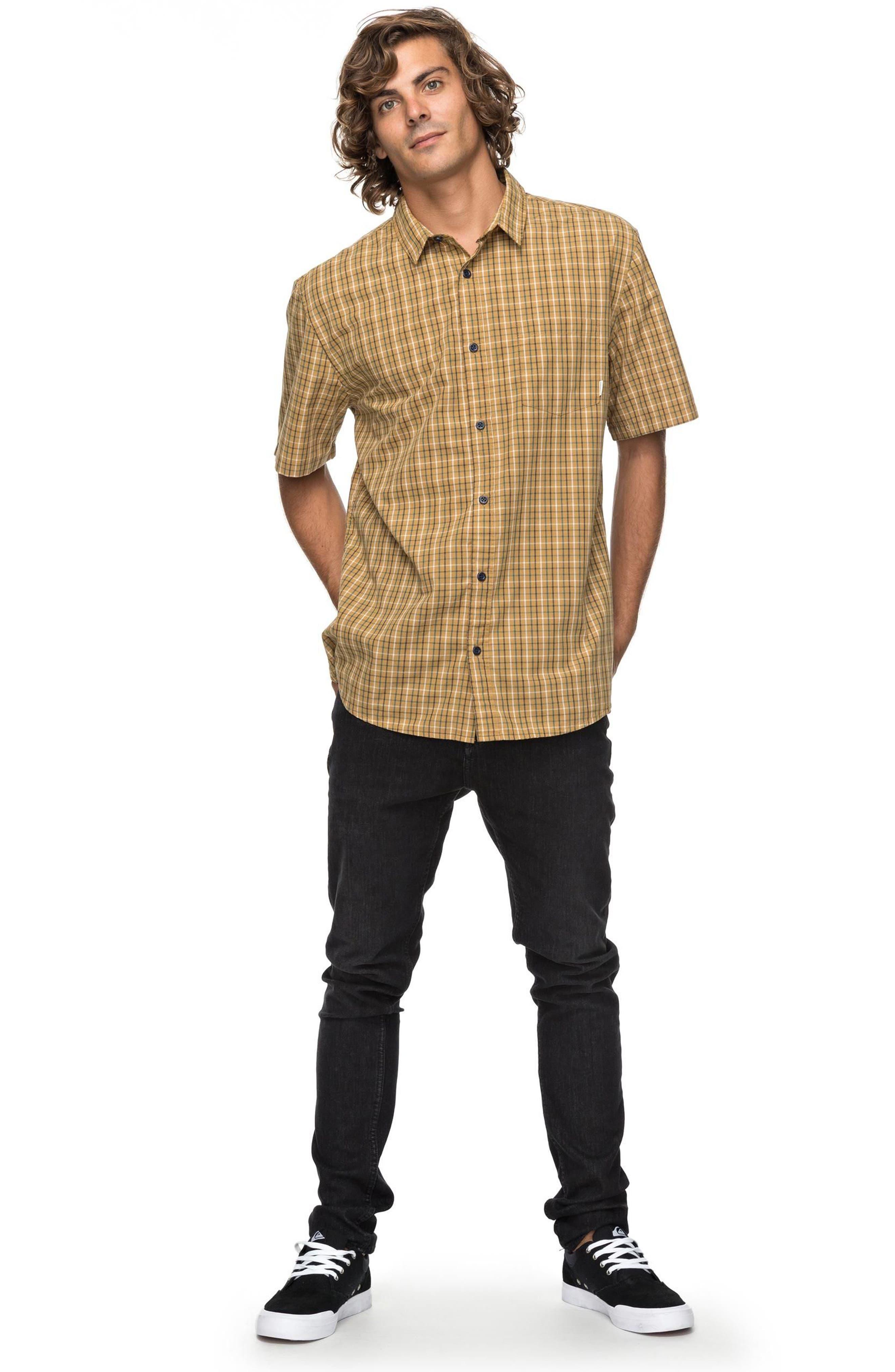 Moon Rythm Short Sleeve Shirt,                             Alternate thumbnail 3, color,                             Wood Trush