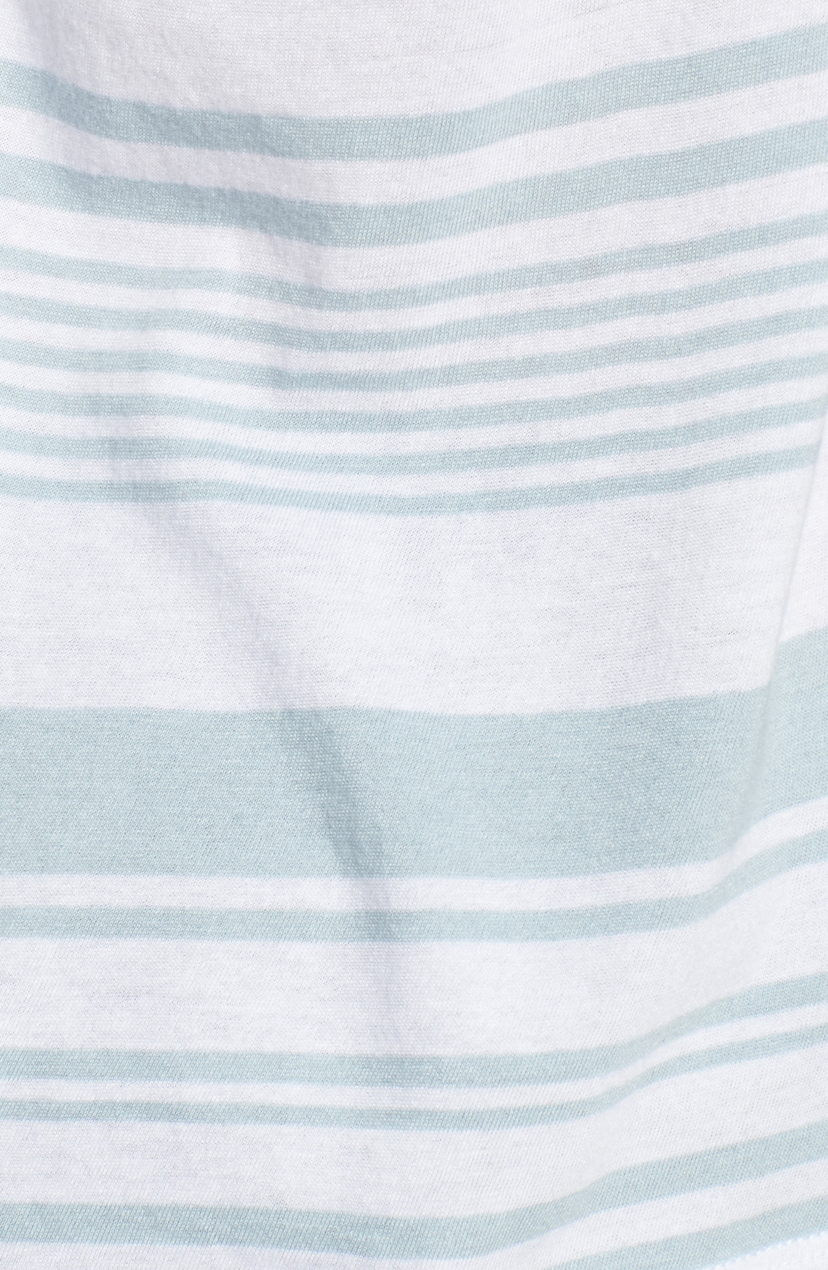Twist Back Tee,                             Alternate thumbnail 6, color,                             Blue Celestial Monaco Stripe