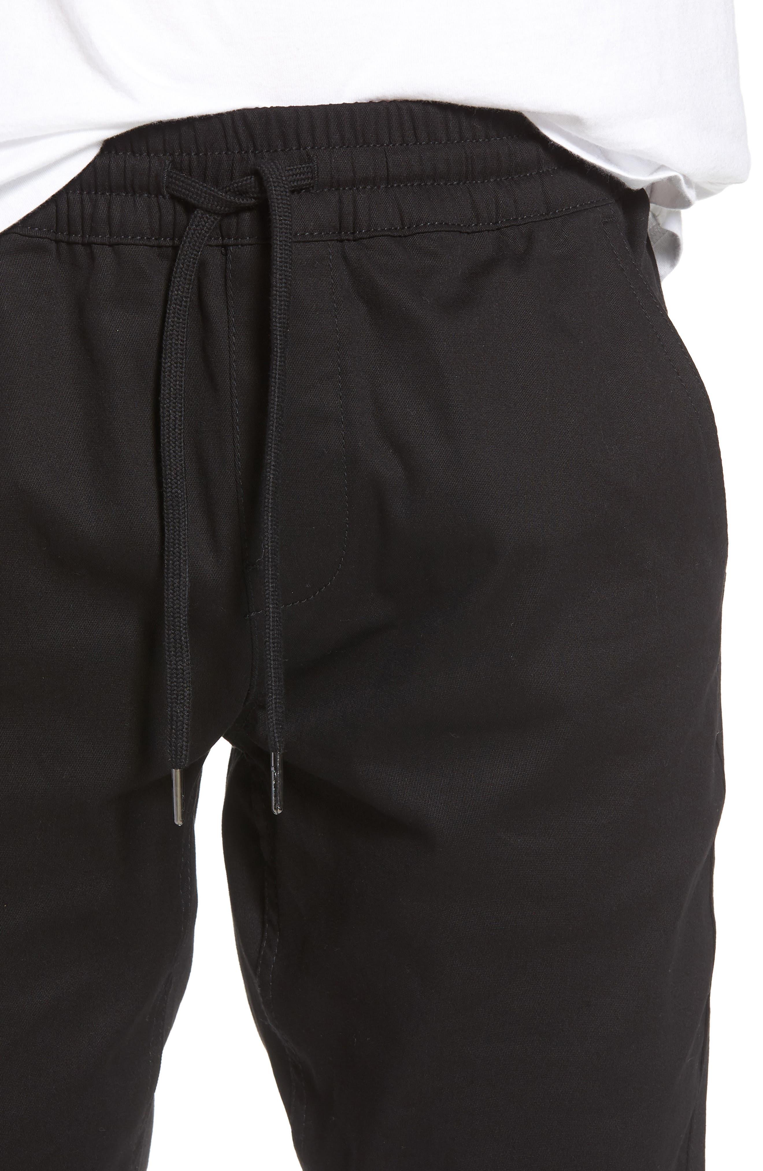 Runner Slim Fit Jogger Pants,                             Alternate thumbnail 4, color,                             Black