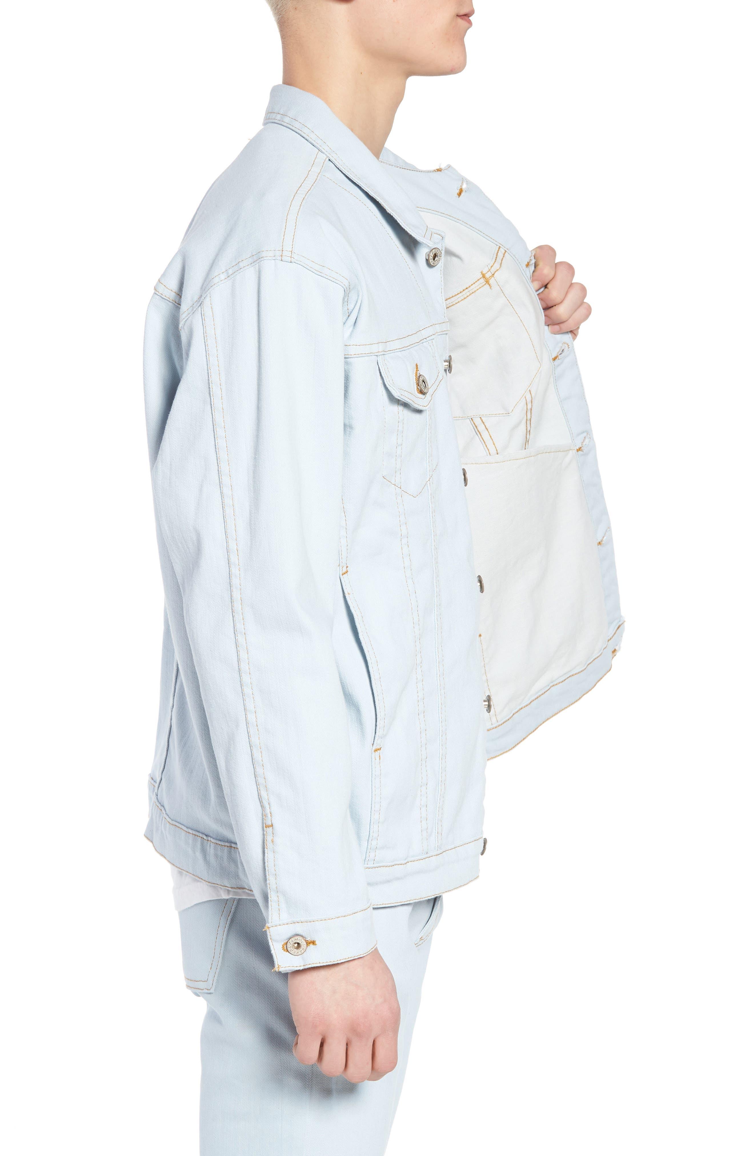 Oversize Jacket,                             Alternate thumbnail 3, color,                             Powder Blue