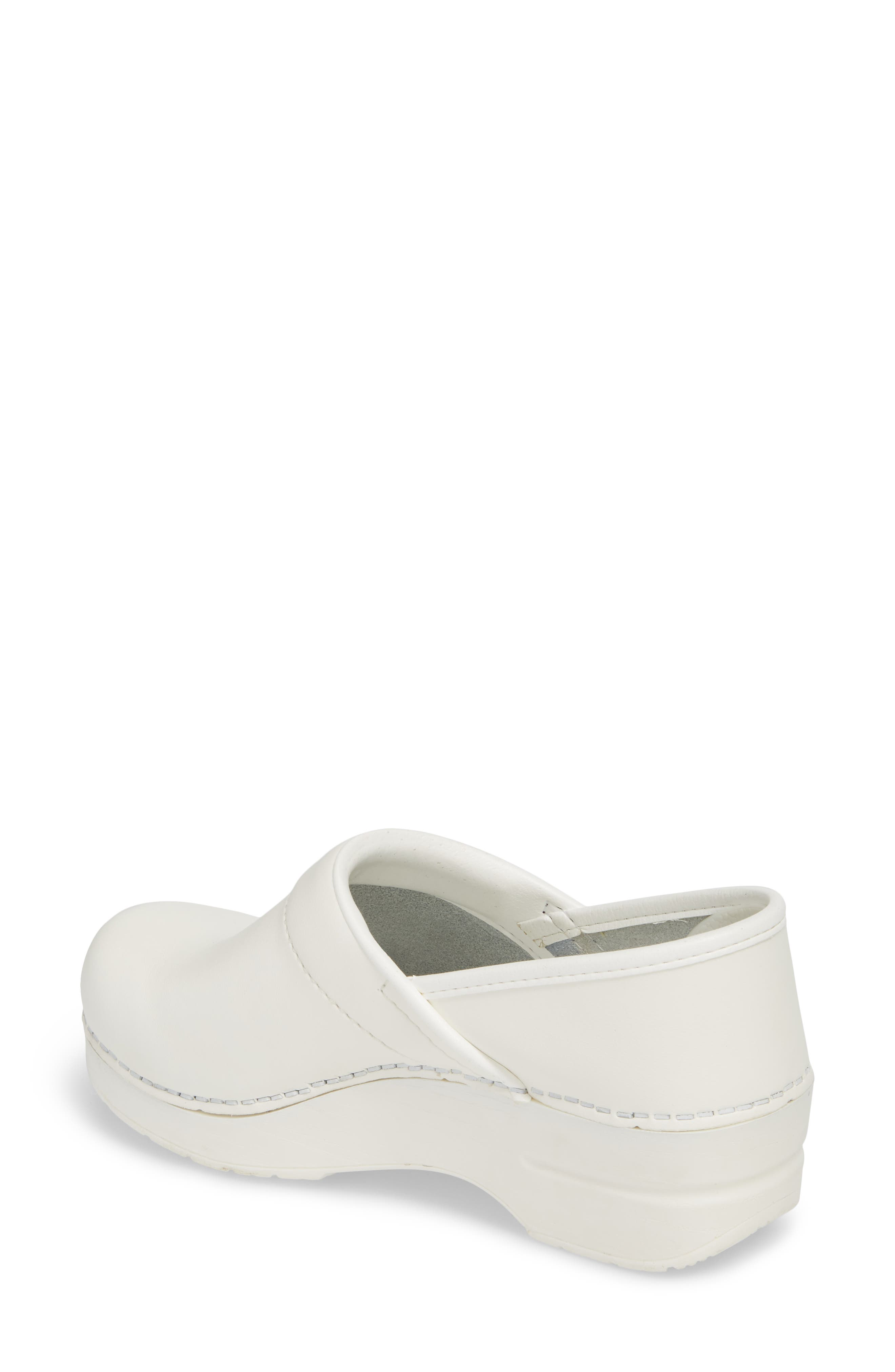 Wide Pro Clog,                             Alternate thumbnail 2, color,                             White Leather