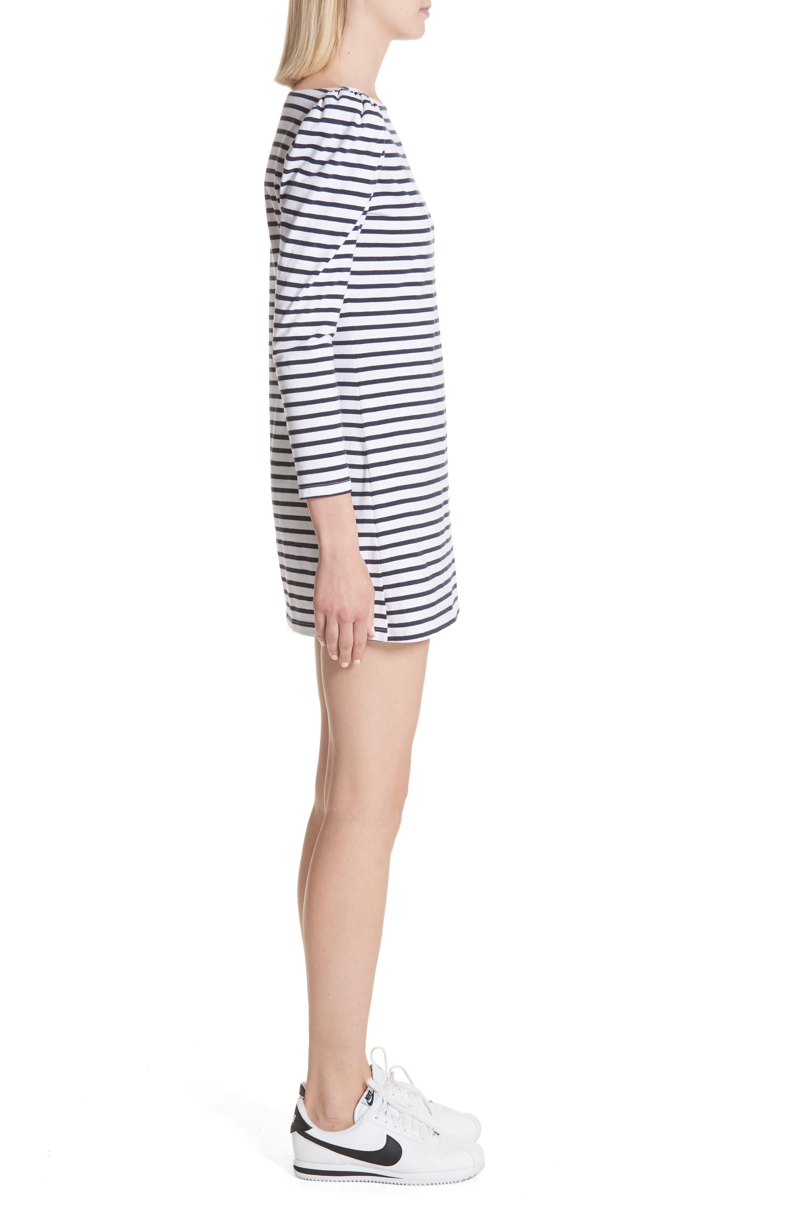 Stevens Stripe Dress,                             Alternate thumbnail 3, color,                             Midnight