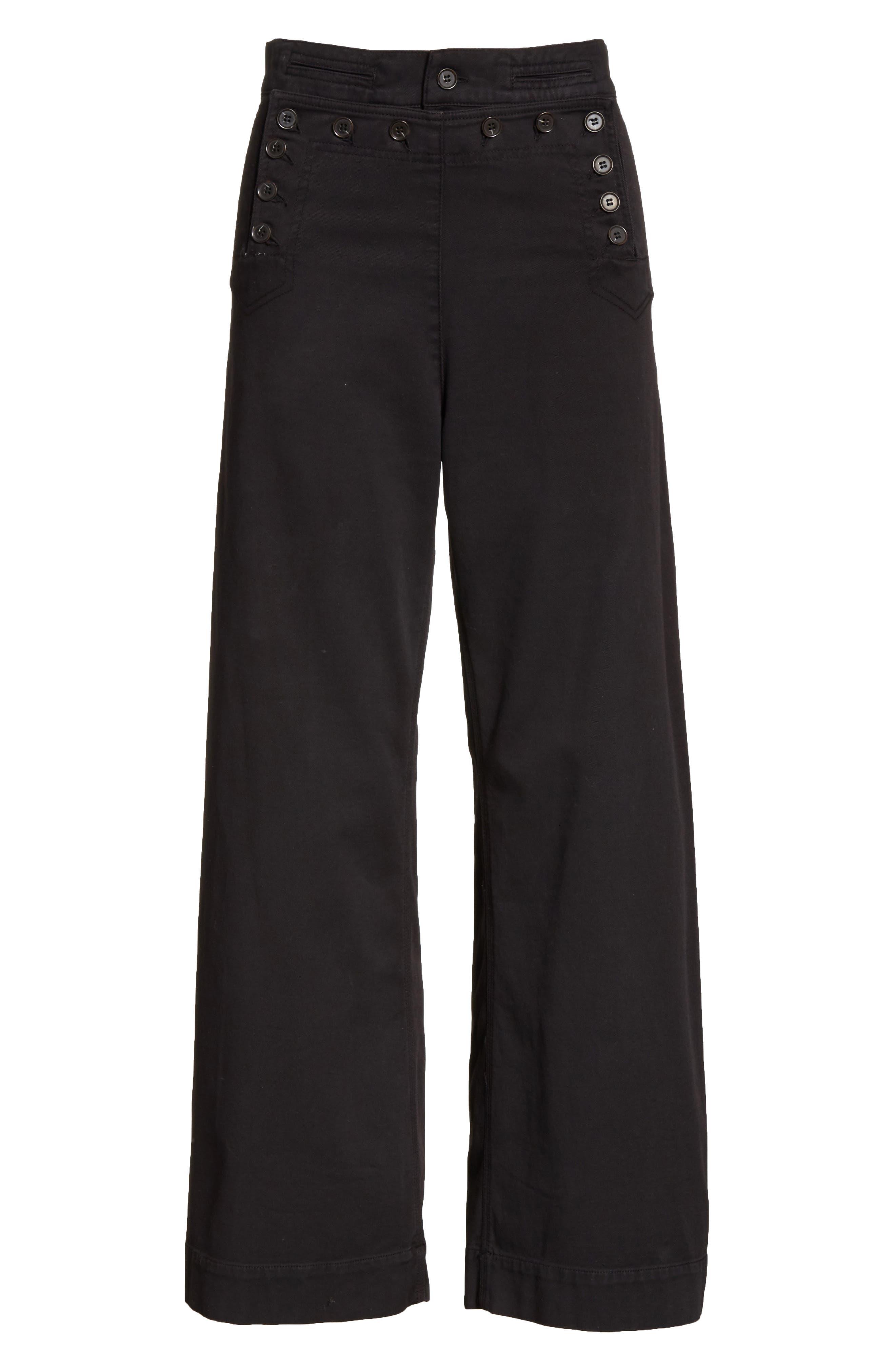Pierce Crop Pants,                             Alternate thumbnail 6, color,                             Black
