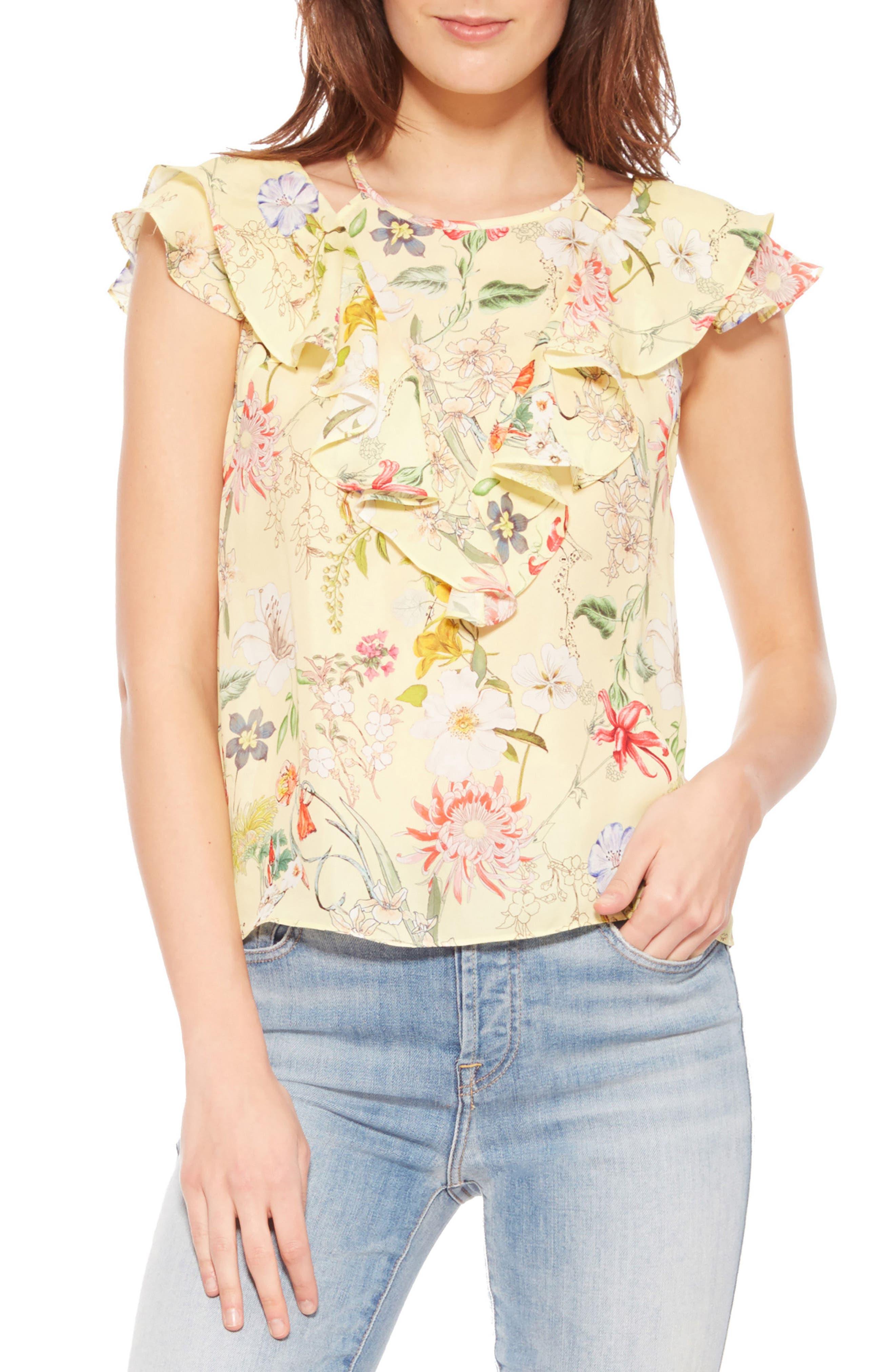 Parker Terry Floral Silk Top