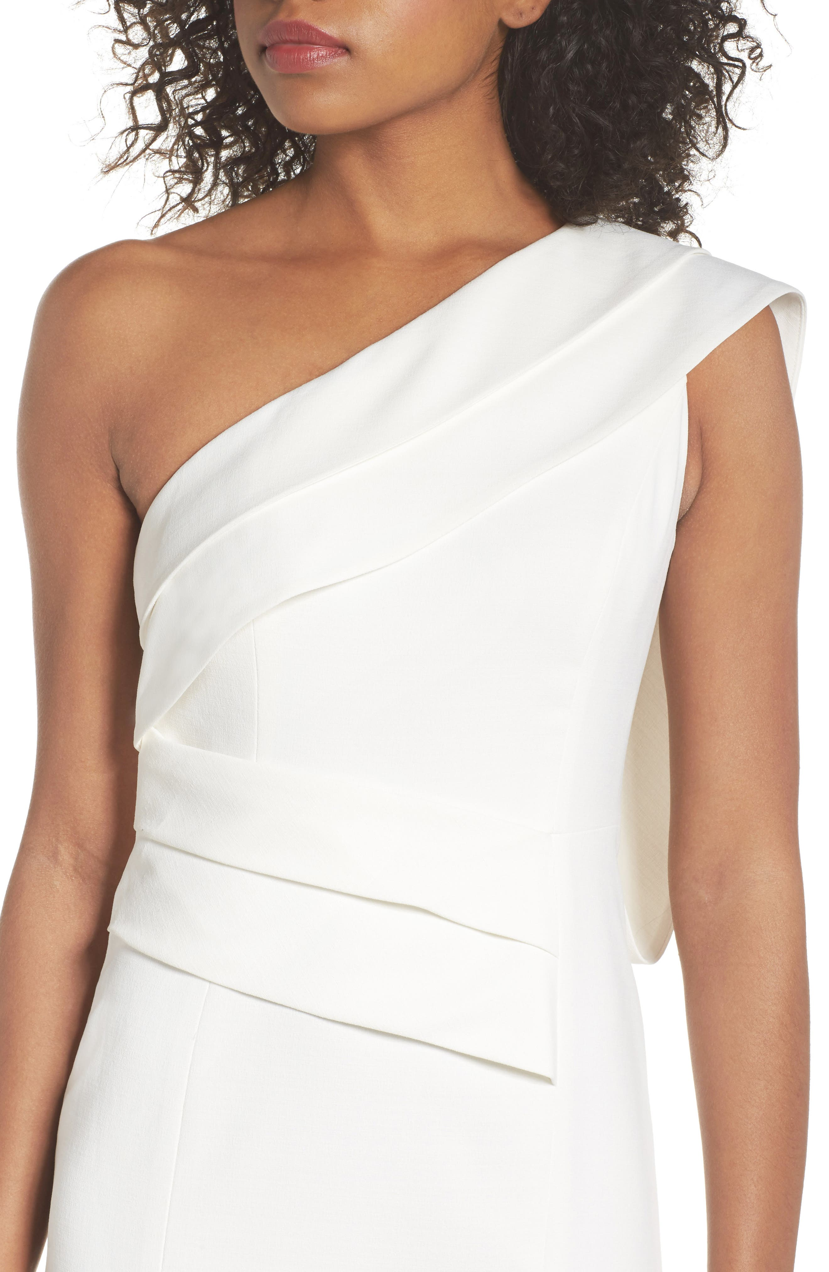 Be Moved One-Shoulder Gown,                             Alternate thumbnail 4, color,                             Ivory