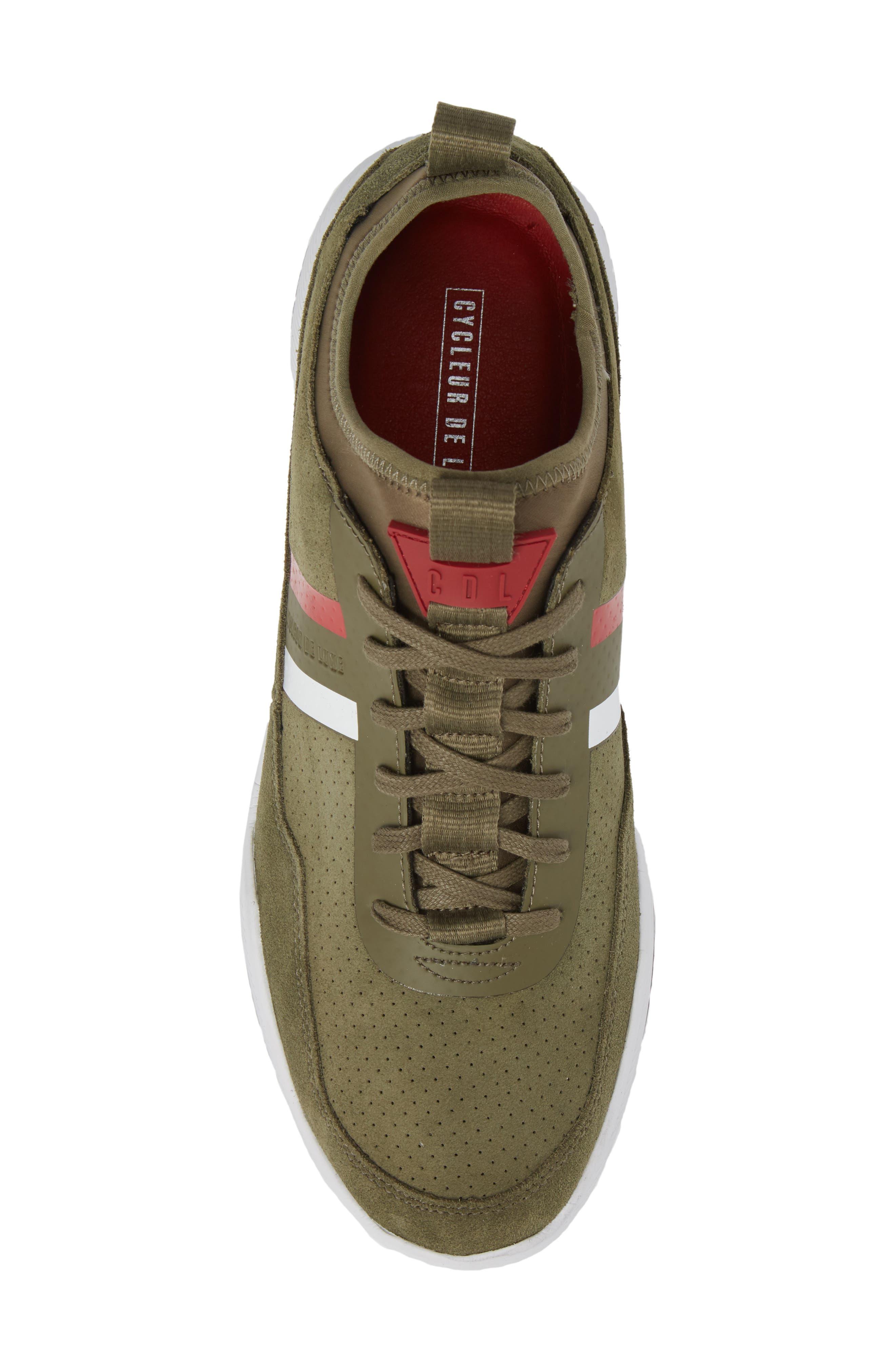 Shiro Hi Sock Fit Sneaker,                             Alternate thumbnail 5, color,                             Military Green Suede