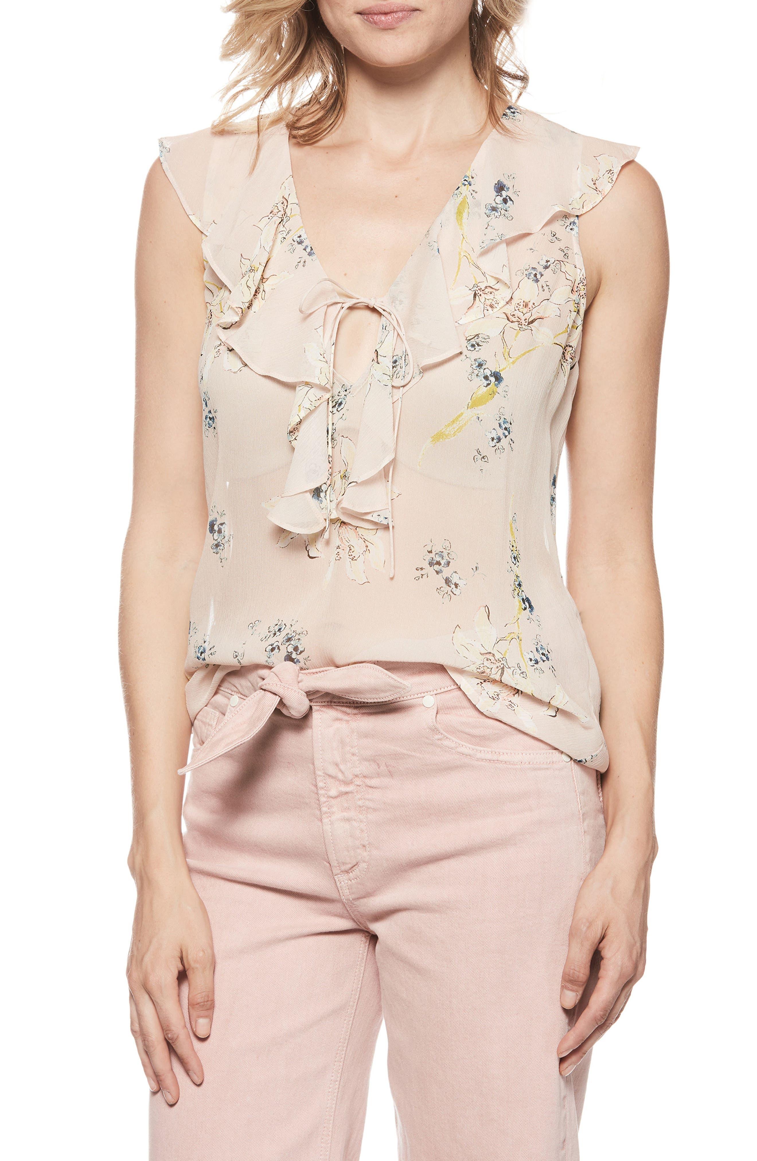 PAIGE Danae Flutter Silk Top