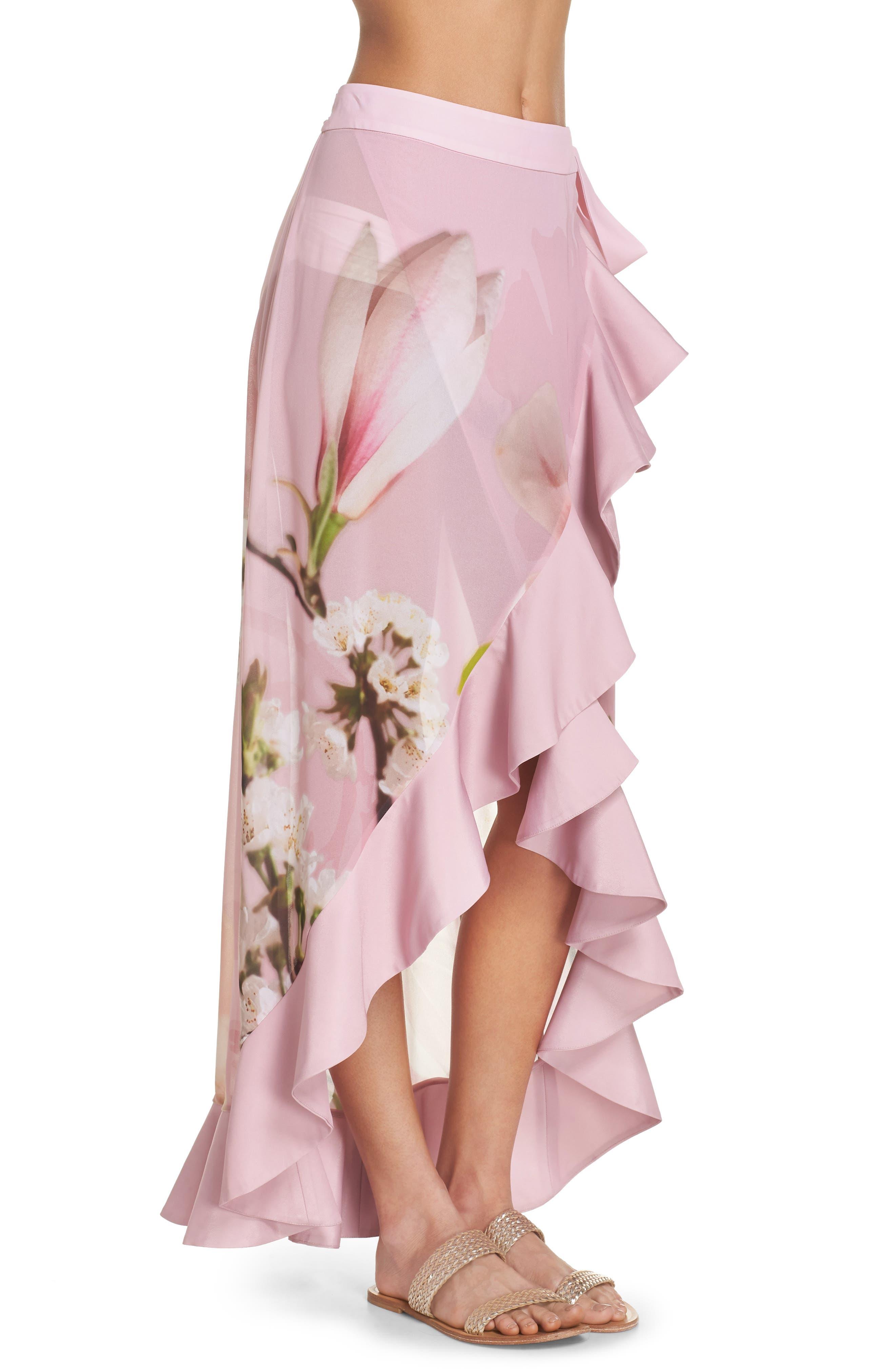 Harmony Cover-Up Skirt,                             Alternate thumbnail 3, color,                             Dusky Pink