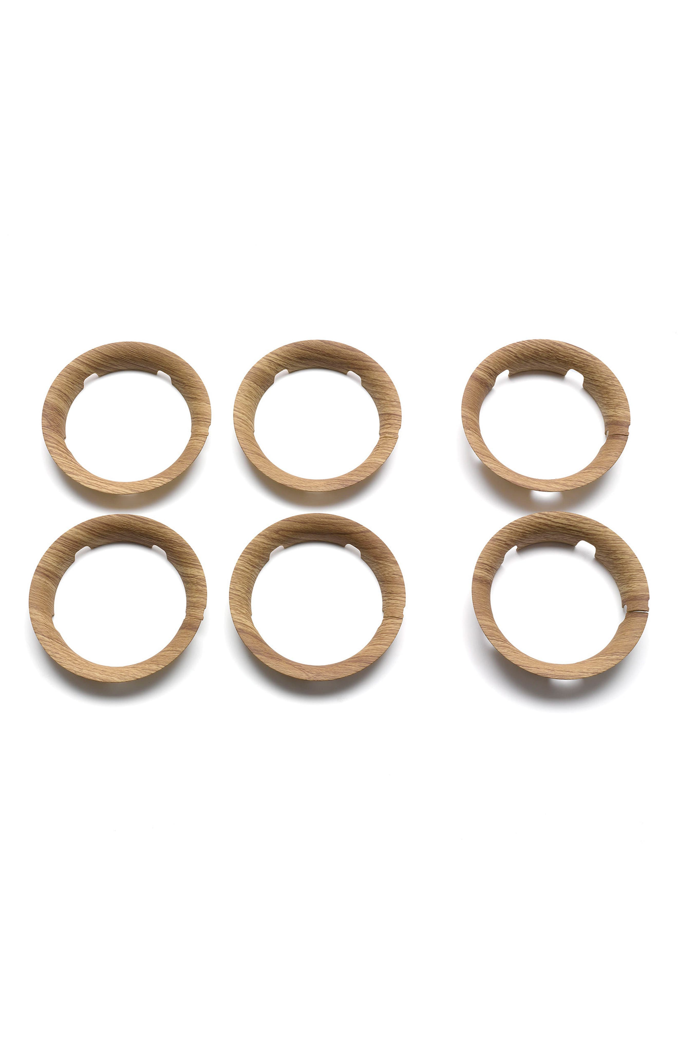 Set of Wheel Caps for Bugaboo Bee5 Stroller,                         Main,                         color, Wood