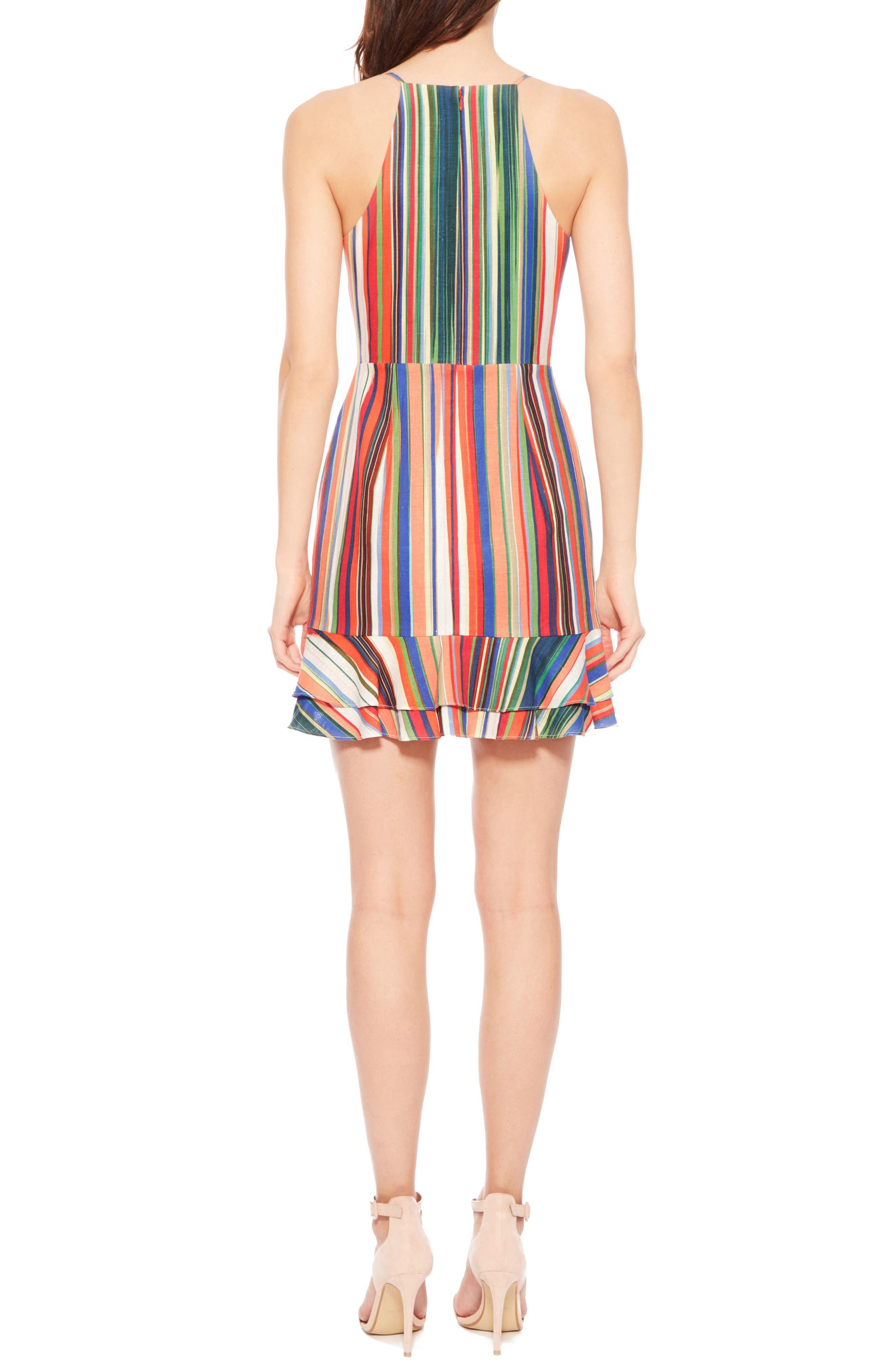 Jay Stripe Dress,                             Alternate thumbnail 3, color,                             Amalfi Stripe