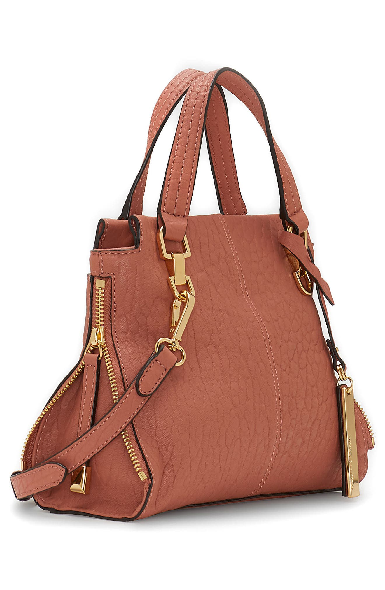 Small Riley Leather Tote,                             Alternate thumbnail 4, color,                             Sushi
