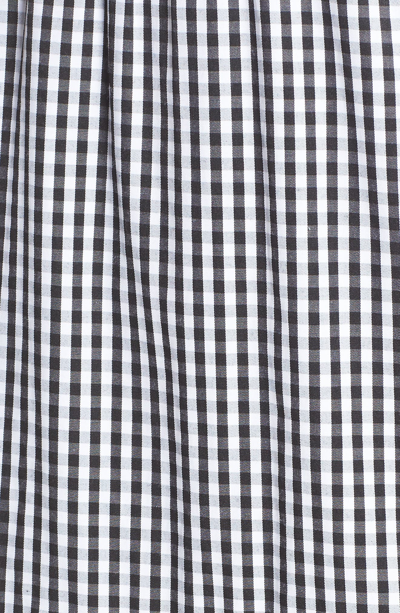 Gingham Check Maxi Dress,                             Alternate thumbnail 6, color,                             Black/ White