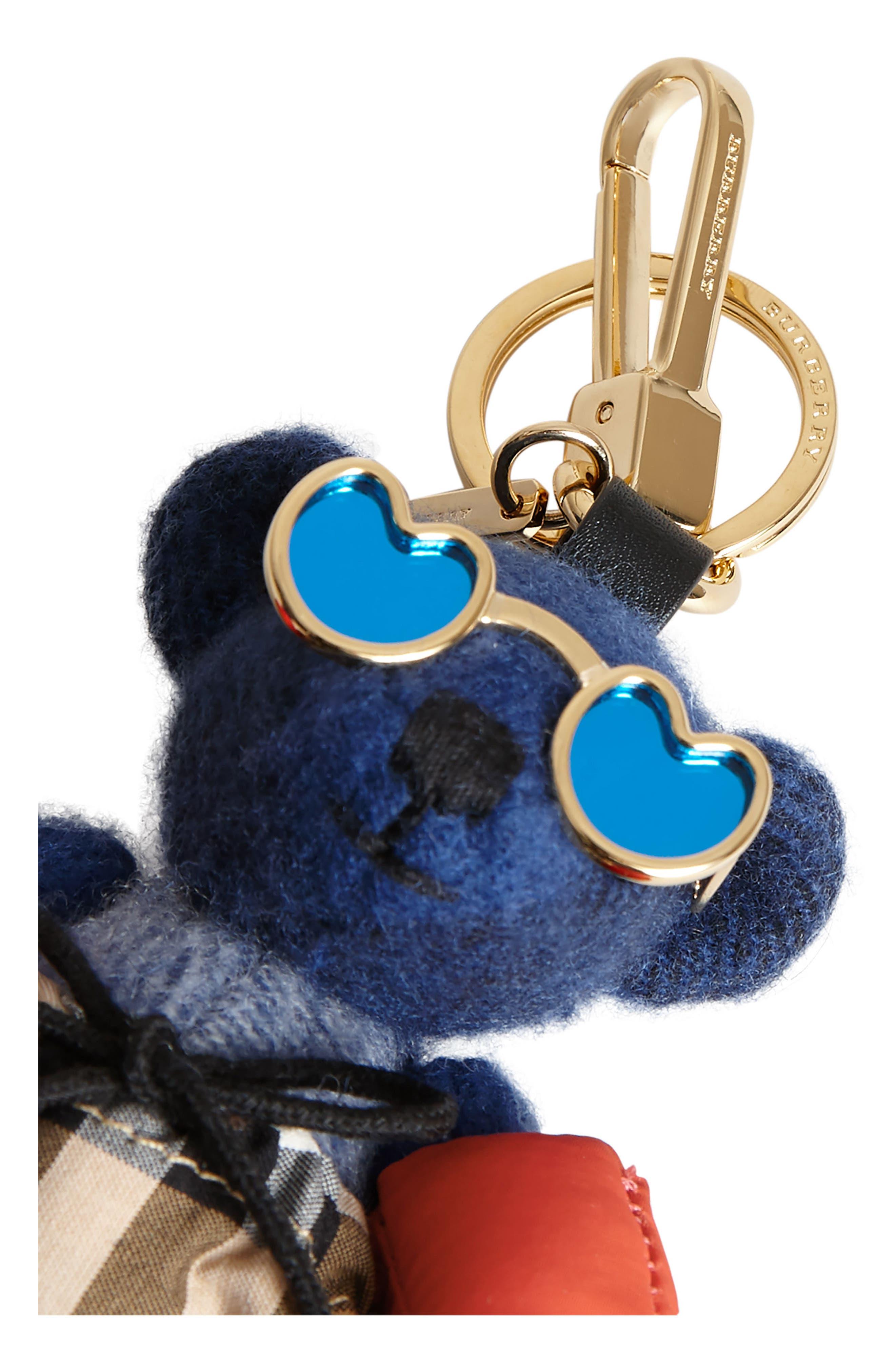Thomas Bear Beach Bag Charm,                             Alternate thumbnail 5, color,                             Cadet Blue