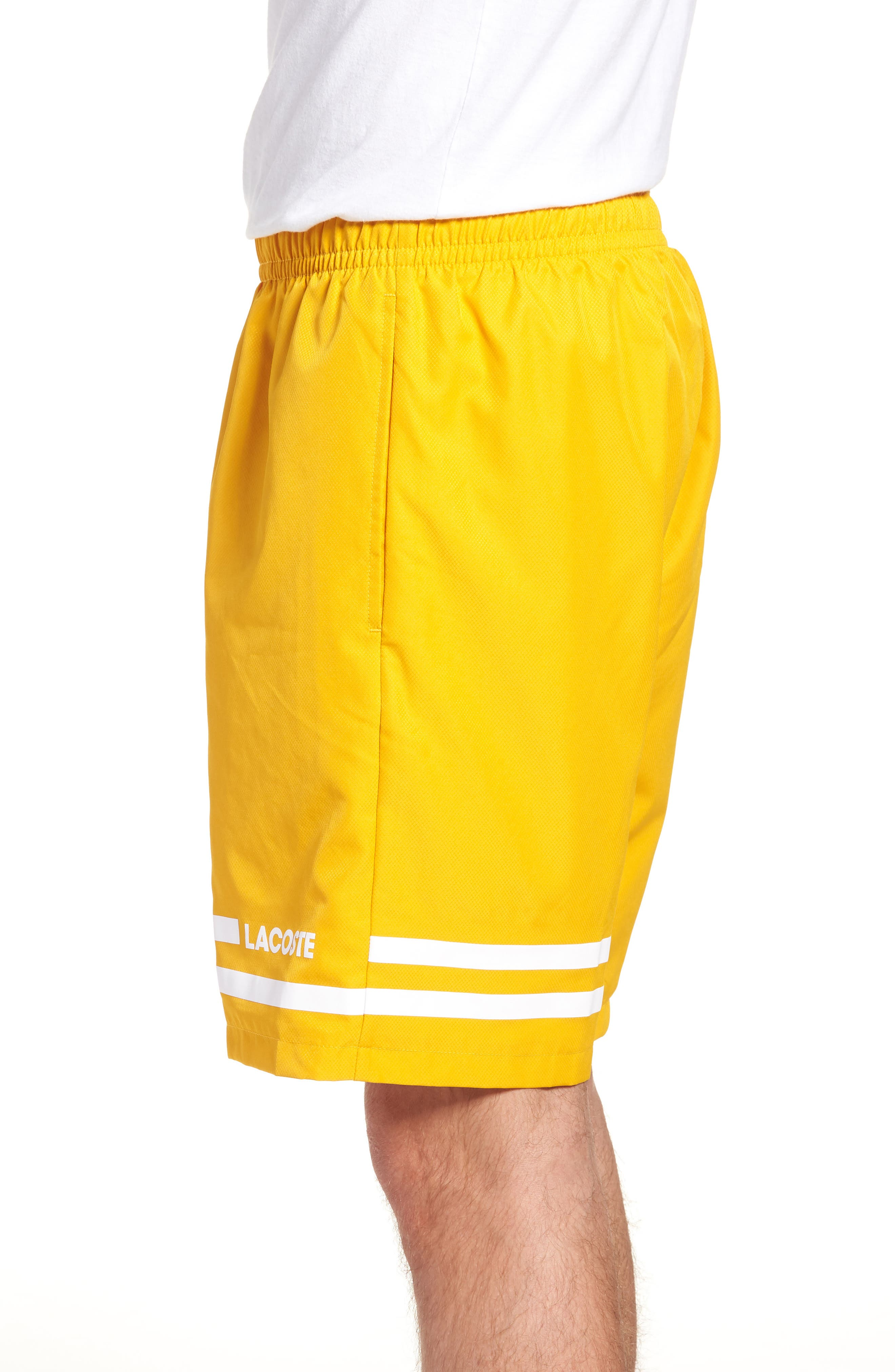 Stripe Shorts,                             Alternate thumbnail 3, color,                             Buttercup/ White