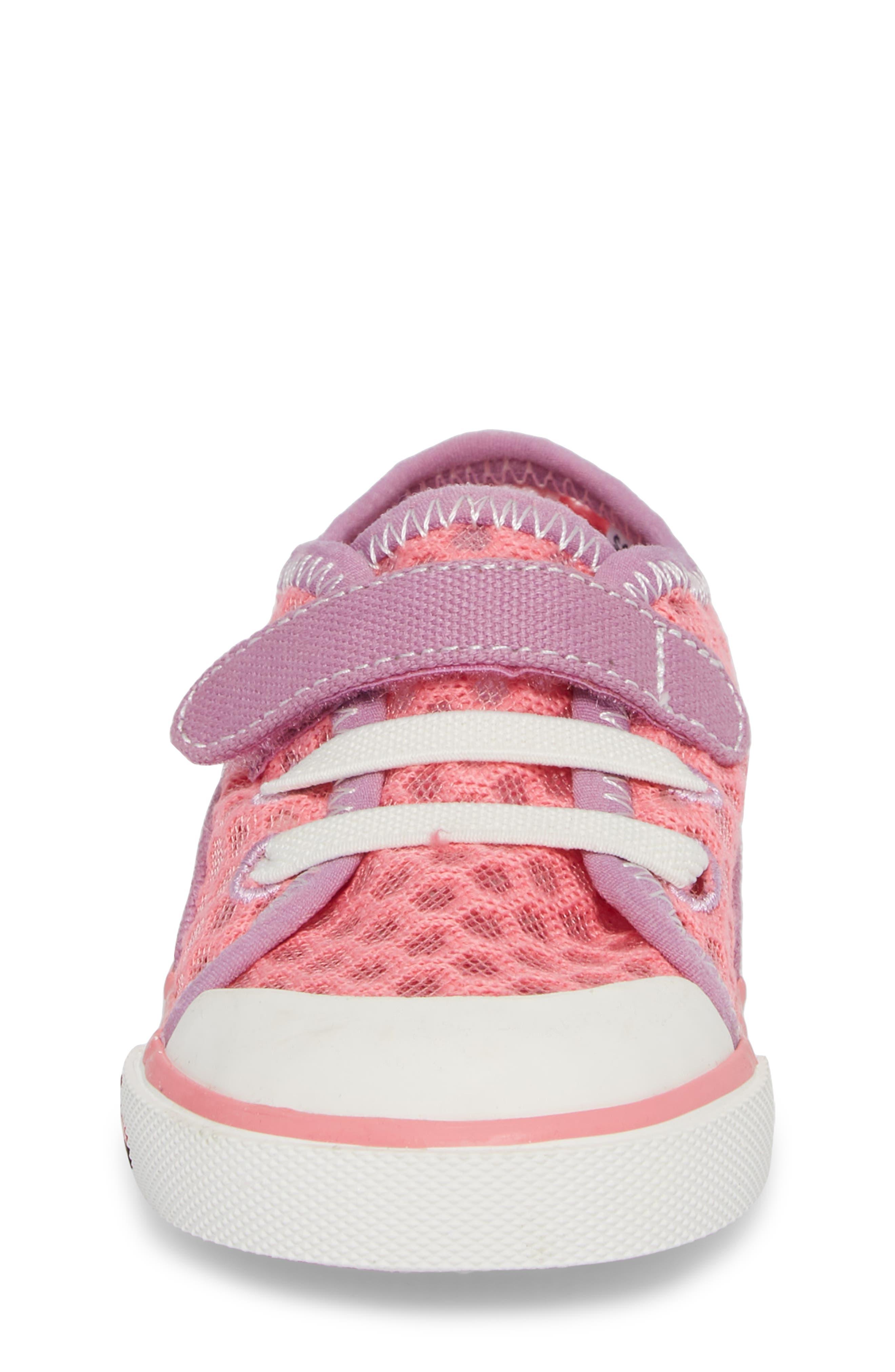Saylor Sneaker,                             Alternate thumbnail 4, color,                             Hot Pink