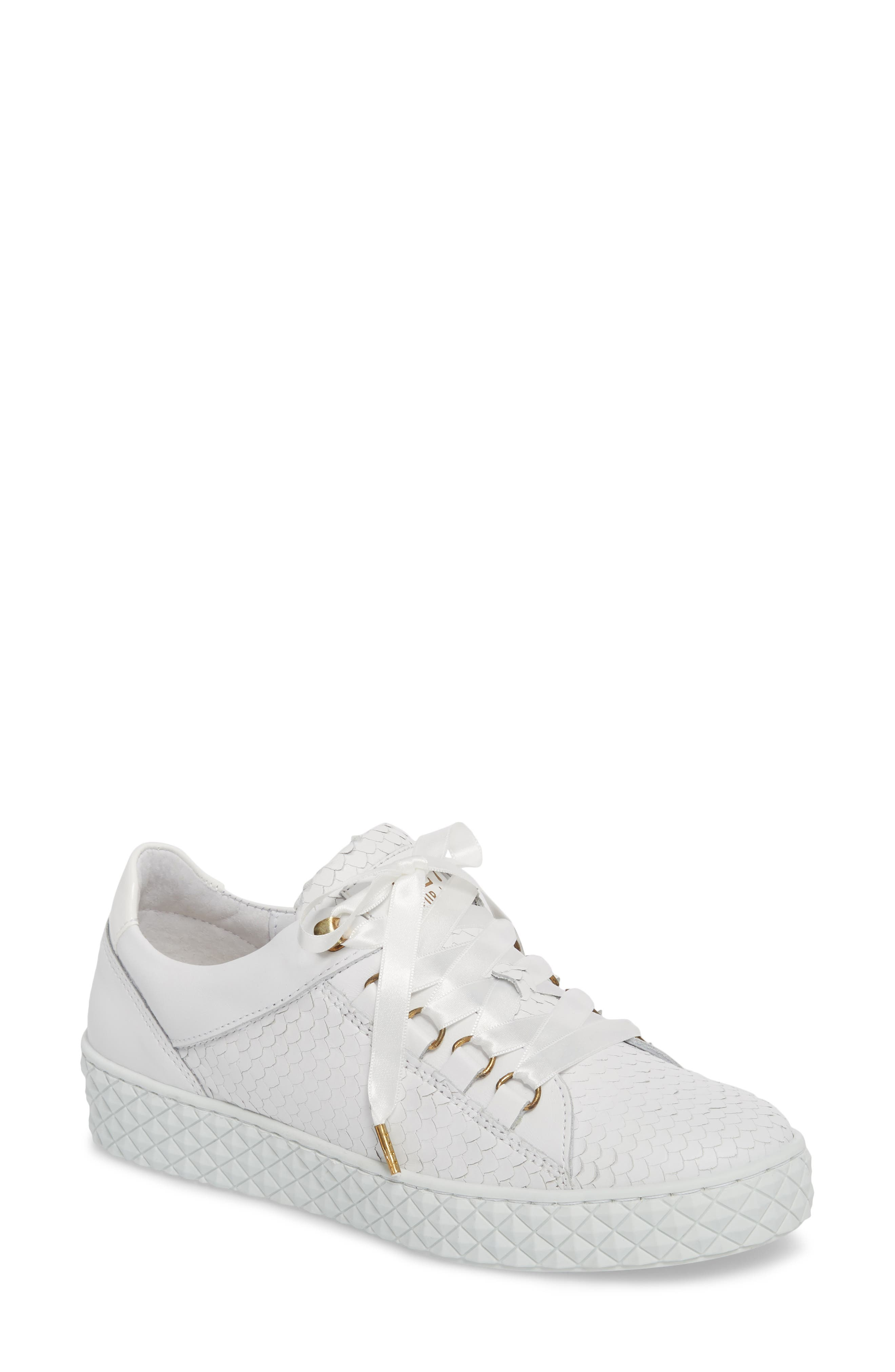 Seoul Sneaker,                             Main thumbnail 1, color,                             Optic White Leather