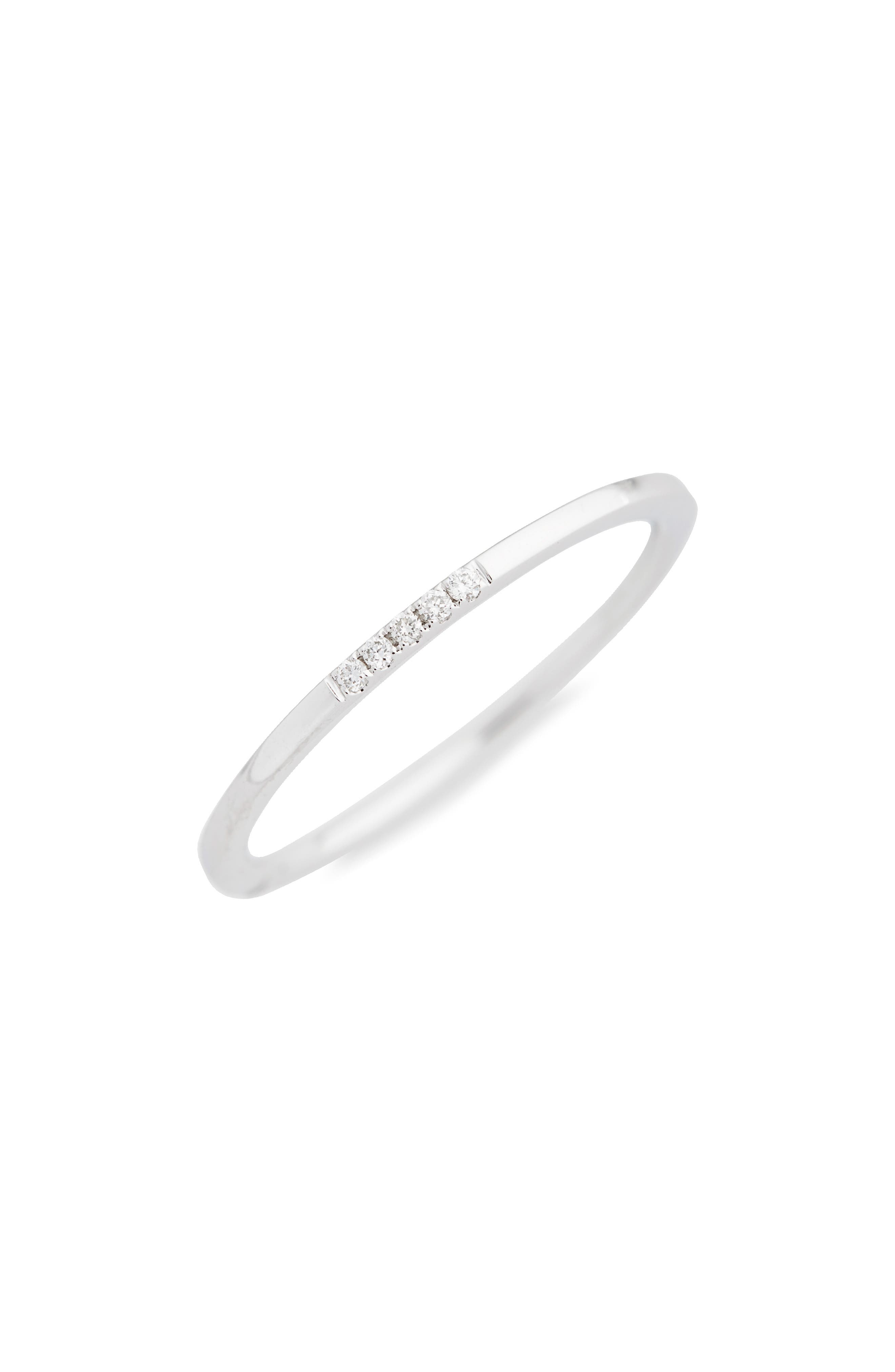 Prism Small Stackable Diamond Ring,                         Main,                         color, White Gold