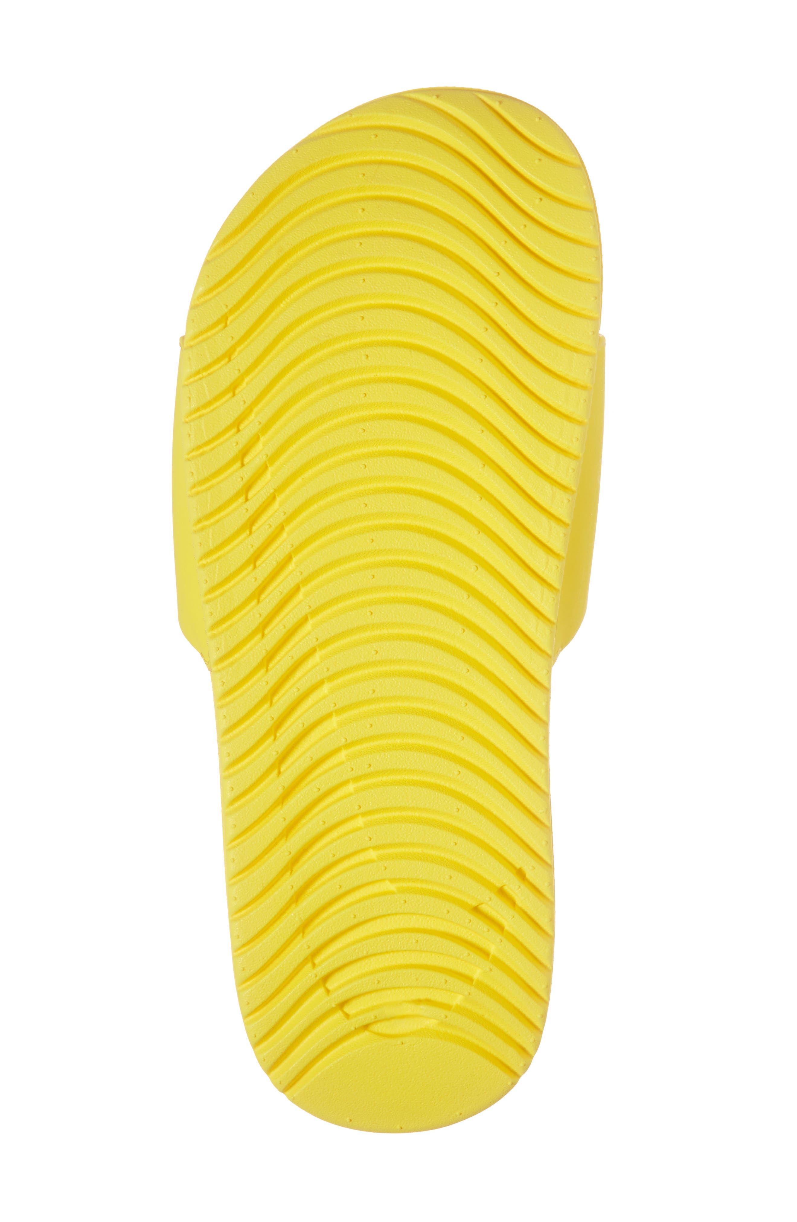 'Kawa' Slide Sandal,                             Alternate thumbnail 6, color,                             Yellow/ Atmosphere Grey