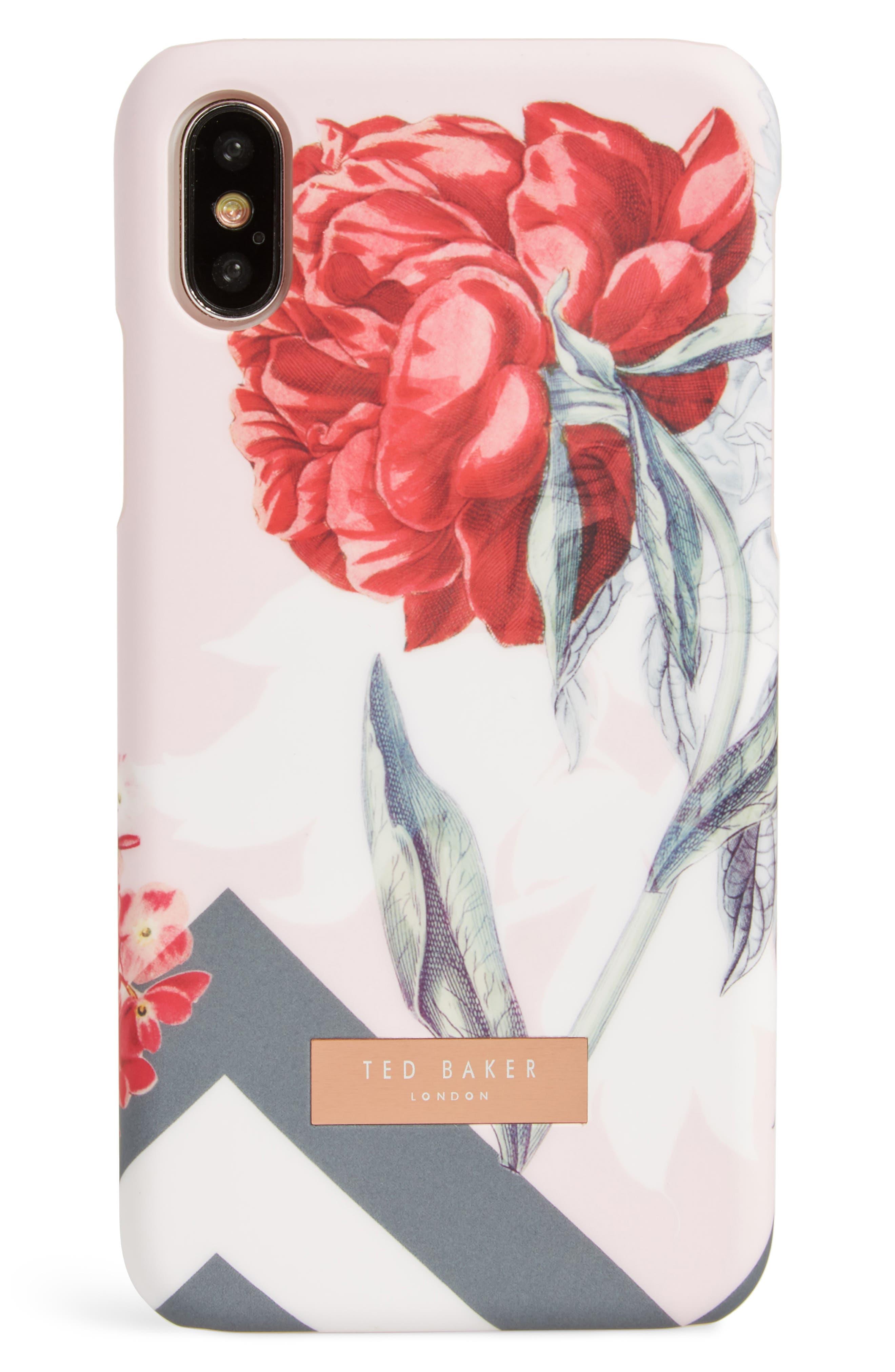 Palace Gardens iPhone X Case,                             Main thumbnail 1, color,                             Pink