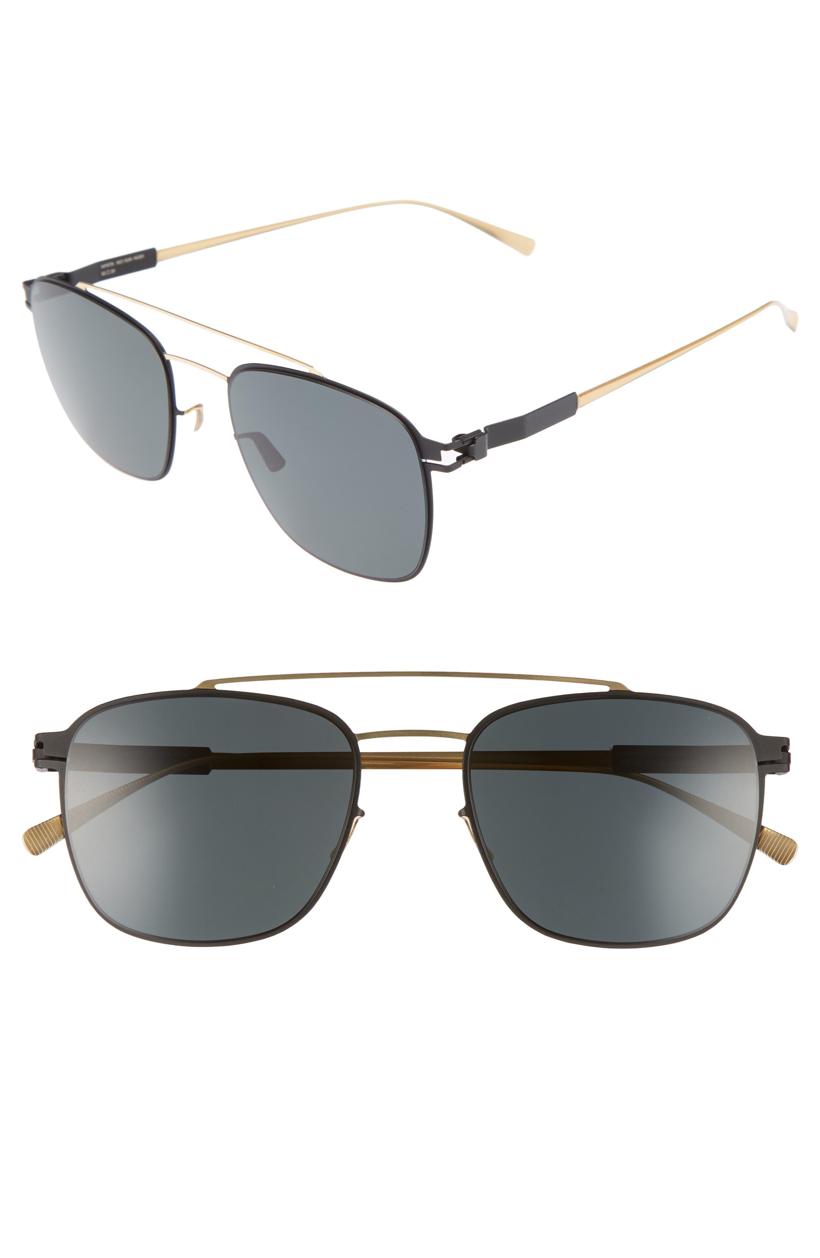 Hugh 52mm Polarized Sunglasses,                             Main thumbnail 1, color,                             Gold/ Black