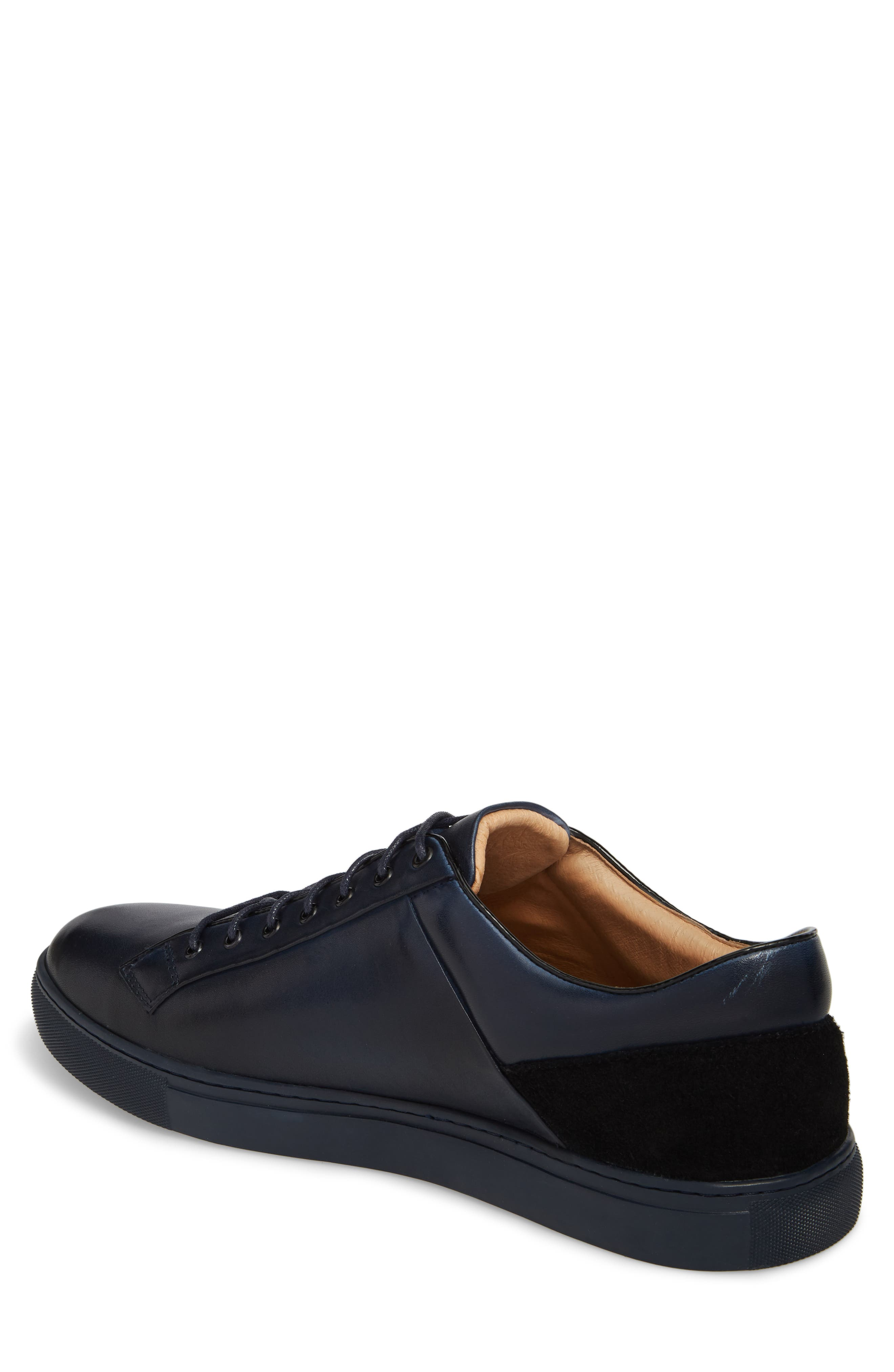 Pitch Low Top Sneaker,                             Alternate thumbnail 2, color,                             Navy Leather/ Suede