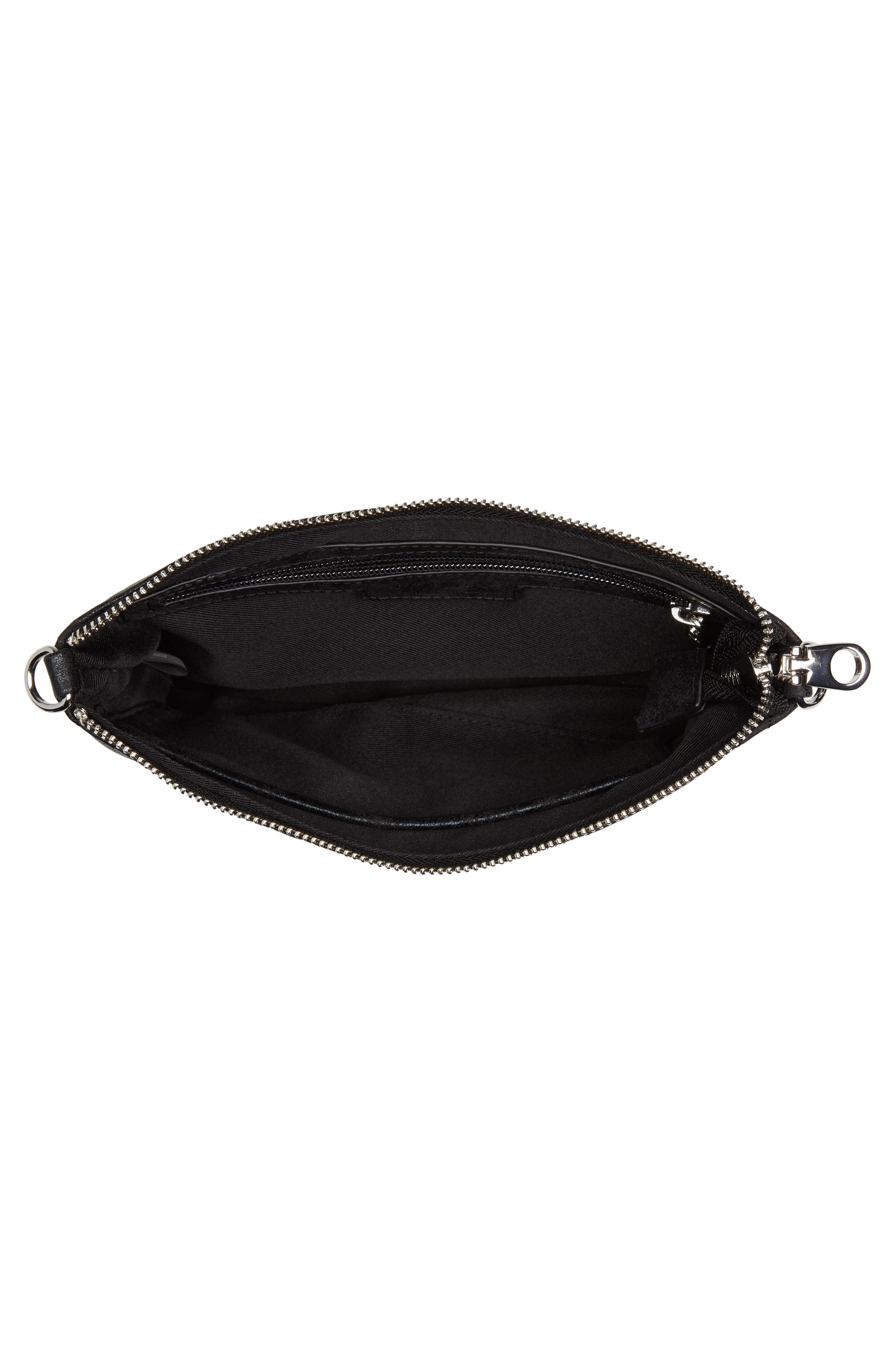 Astley Faux Leather Clutch,                             Alternate thumbnail 4, color,                             Black