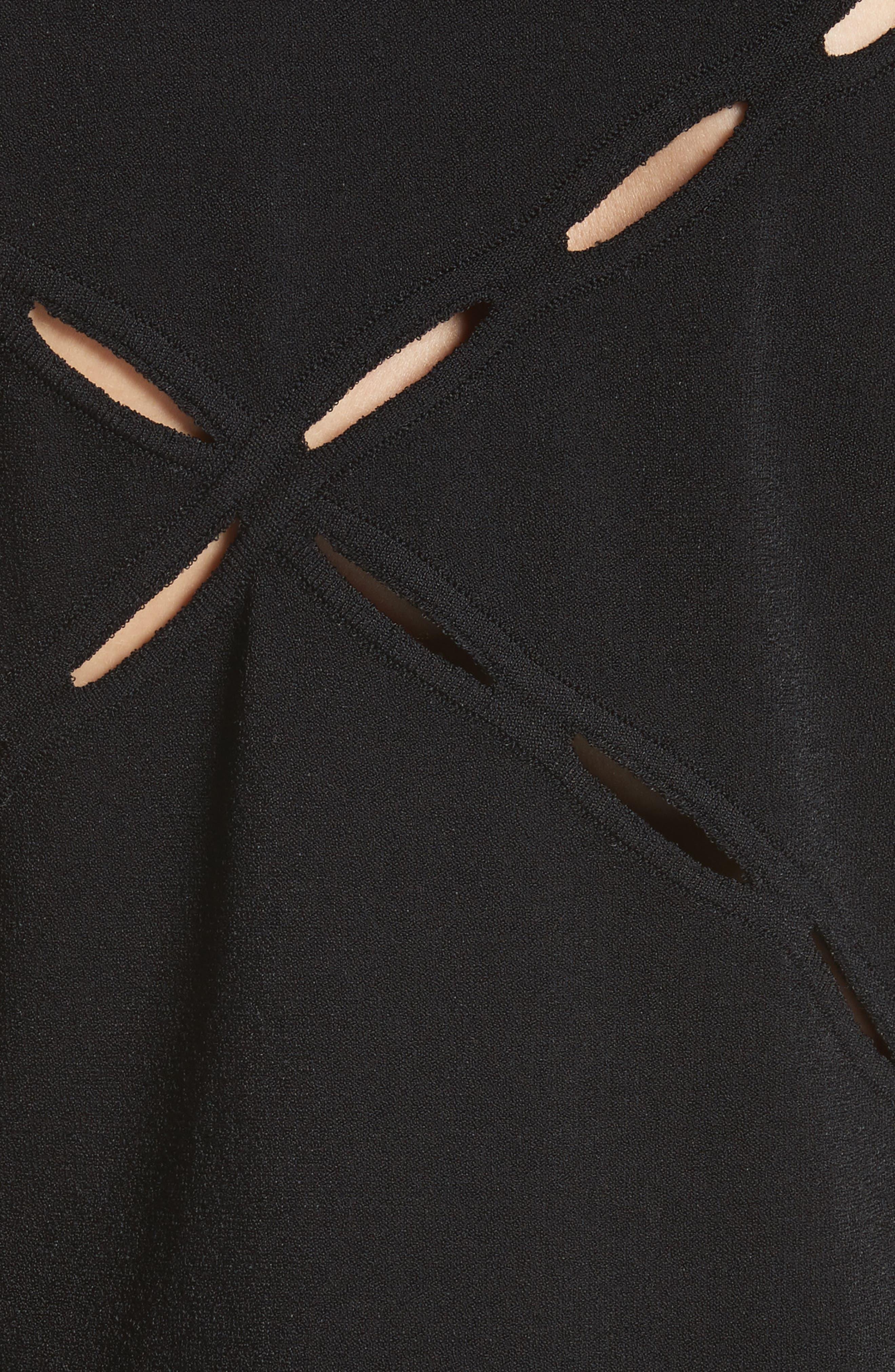 Eden Slash Detail Top,                             Alternate thumbnail 5, color,                             Black