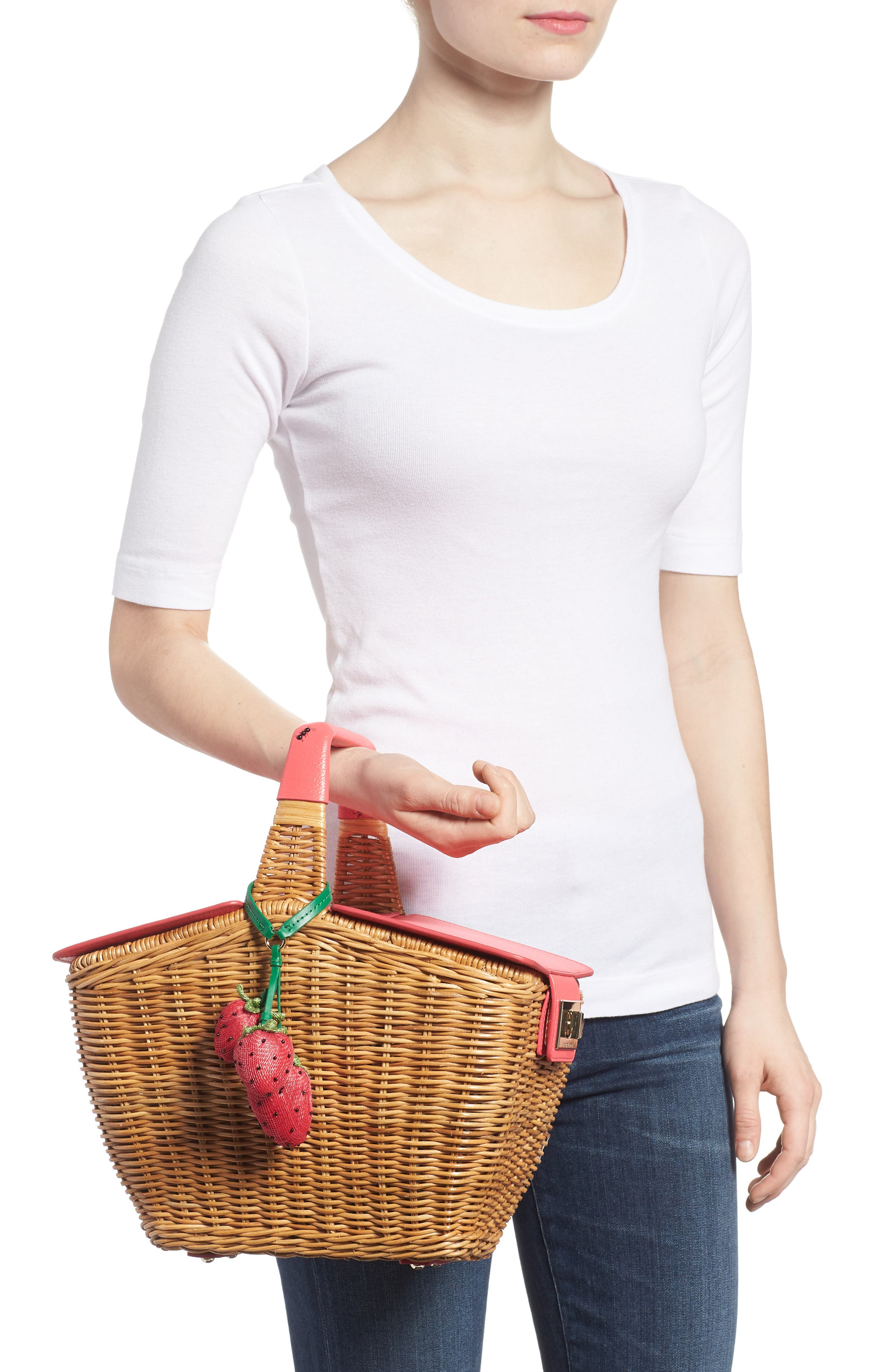 picnic perfect 3D wicker picnic basket,                             Alternate thumbnail 2, color,                             Multi
