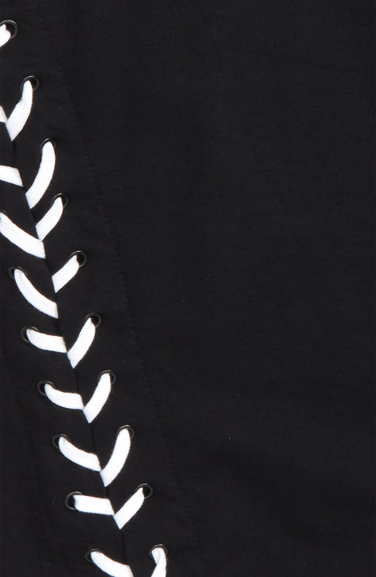 Adorn Sweatshirt Dress,                             Alternate thumbnail 3, color,                             Black