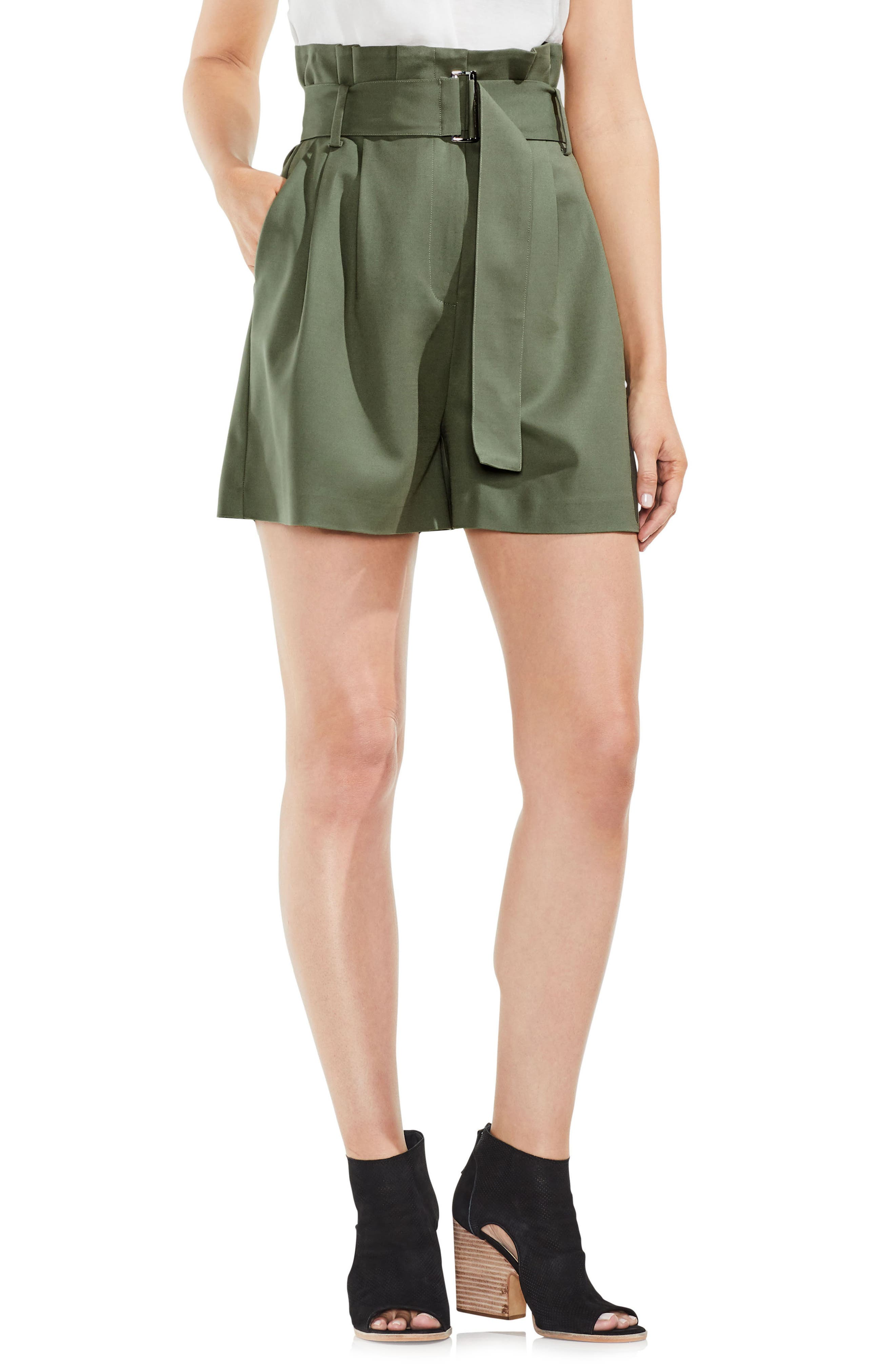 Alternate Image 1 Selected - Vince Camuto Belted High Waist Shorts