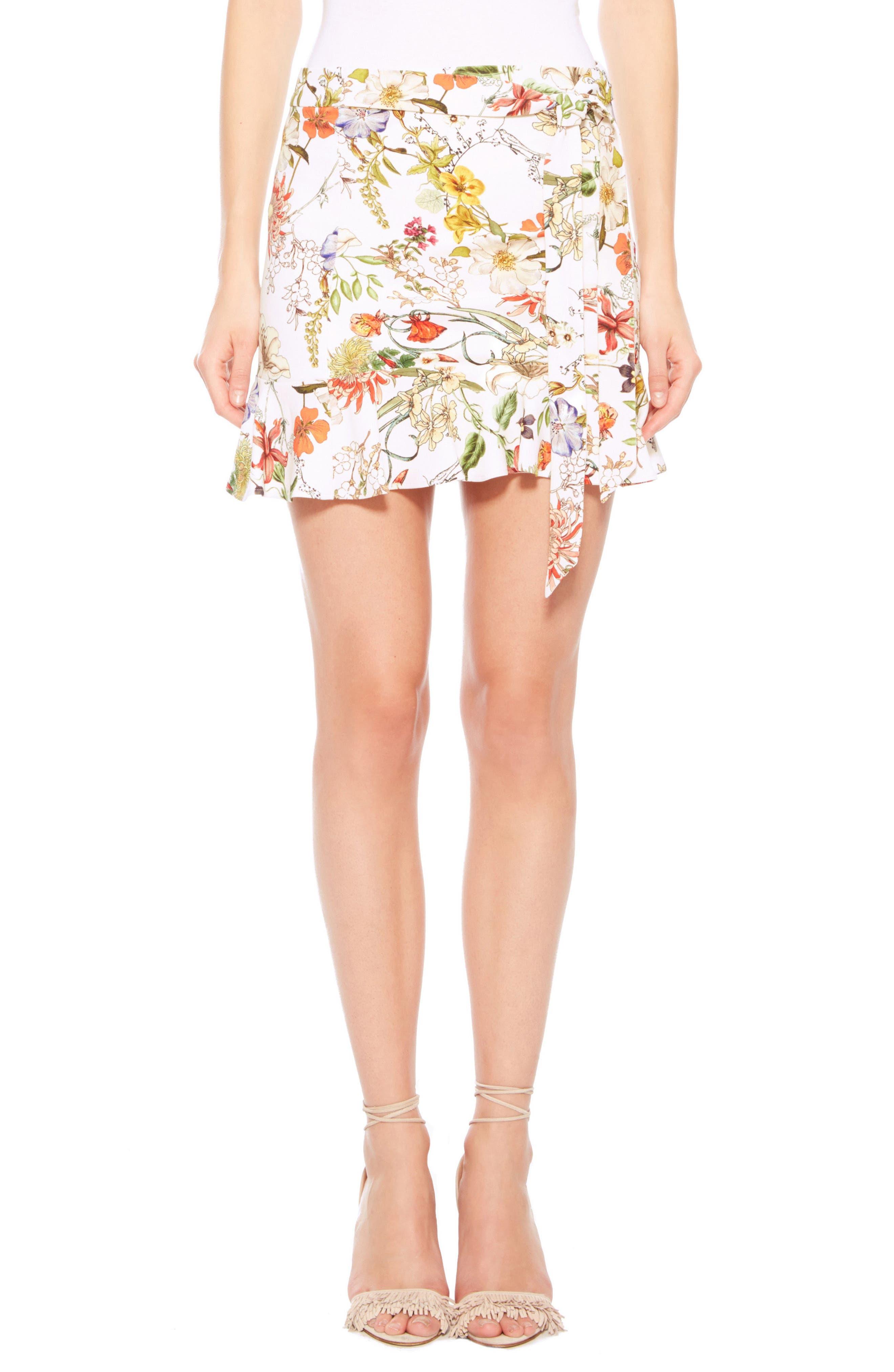 Parker Lieanna Floral Miniskirt