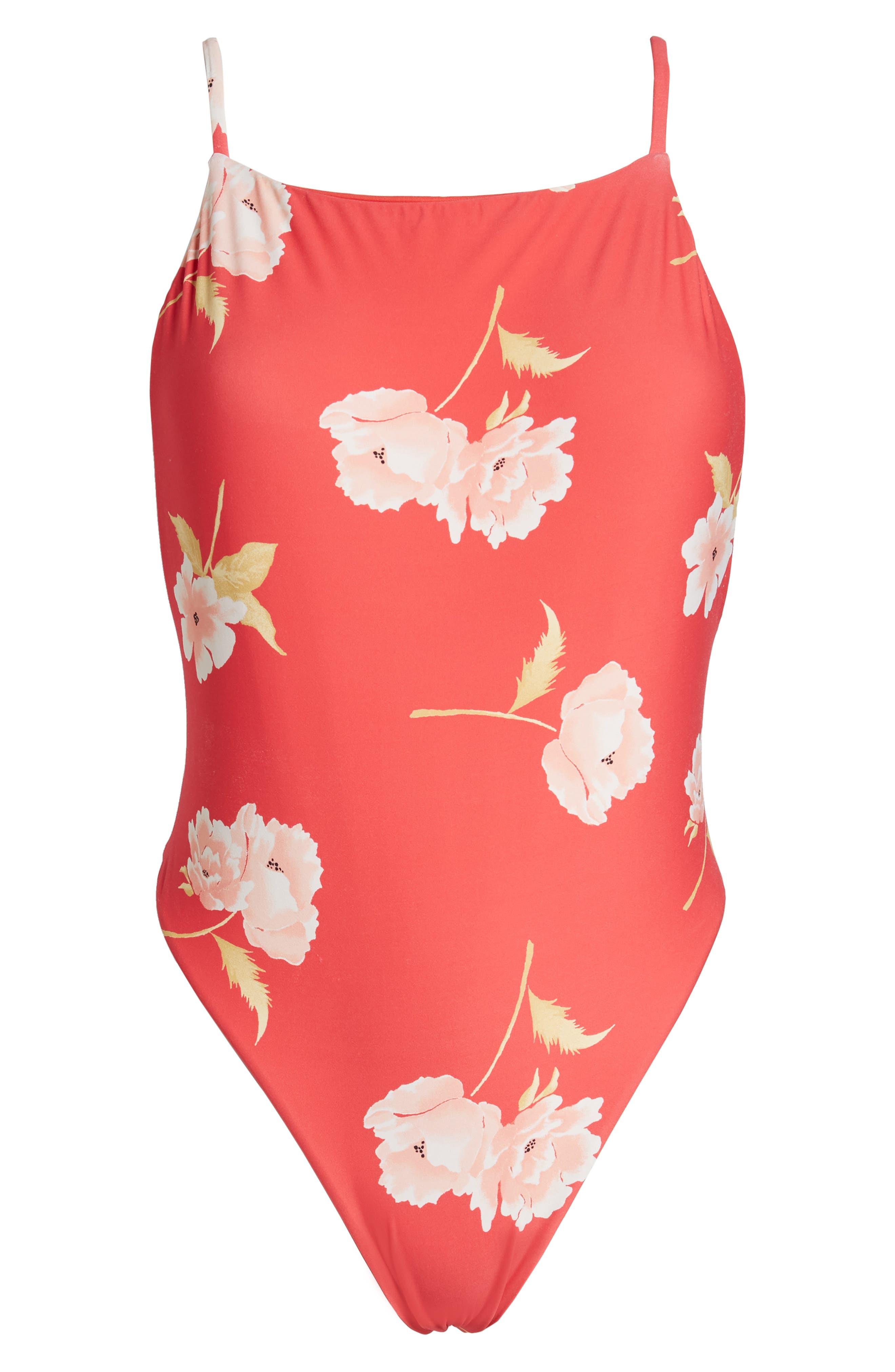 Alternate Image 2  - Billabong Floral Dawn One-Piece Swimsuit