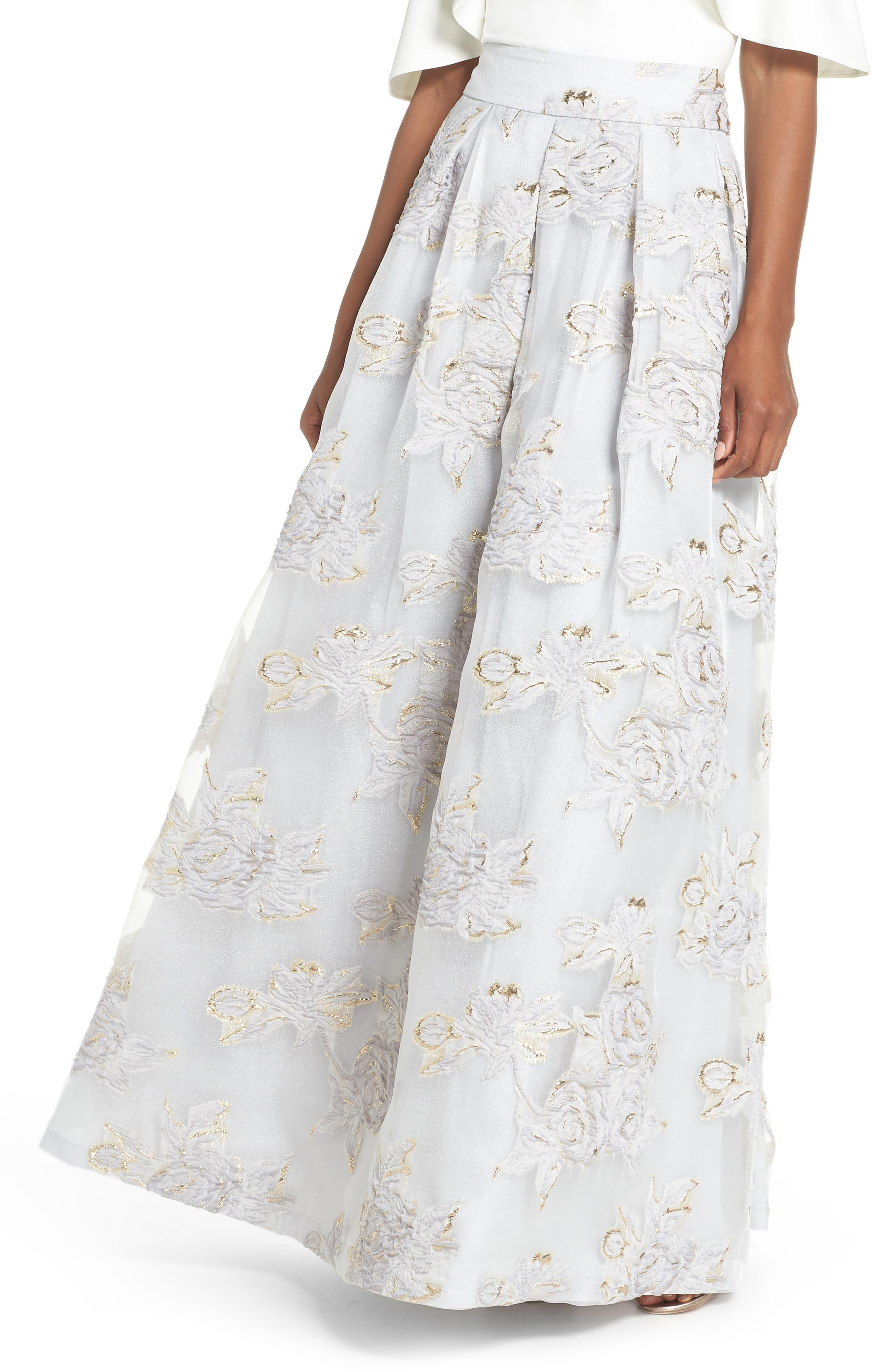 Jacquard Ball Skirt,                         Main,                         color, Silver