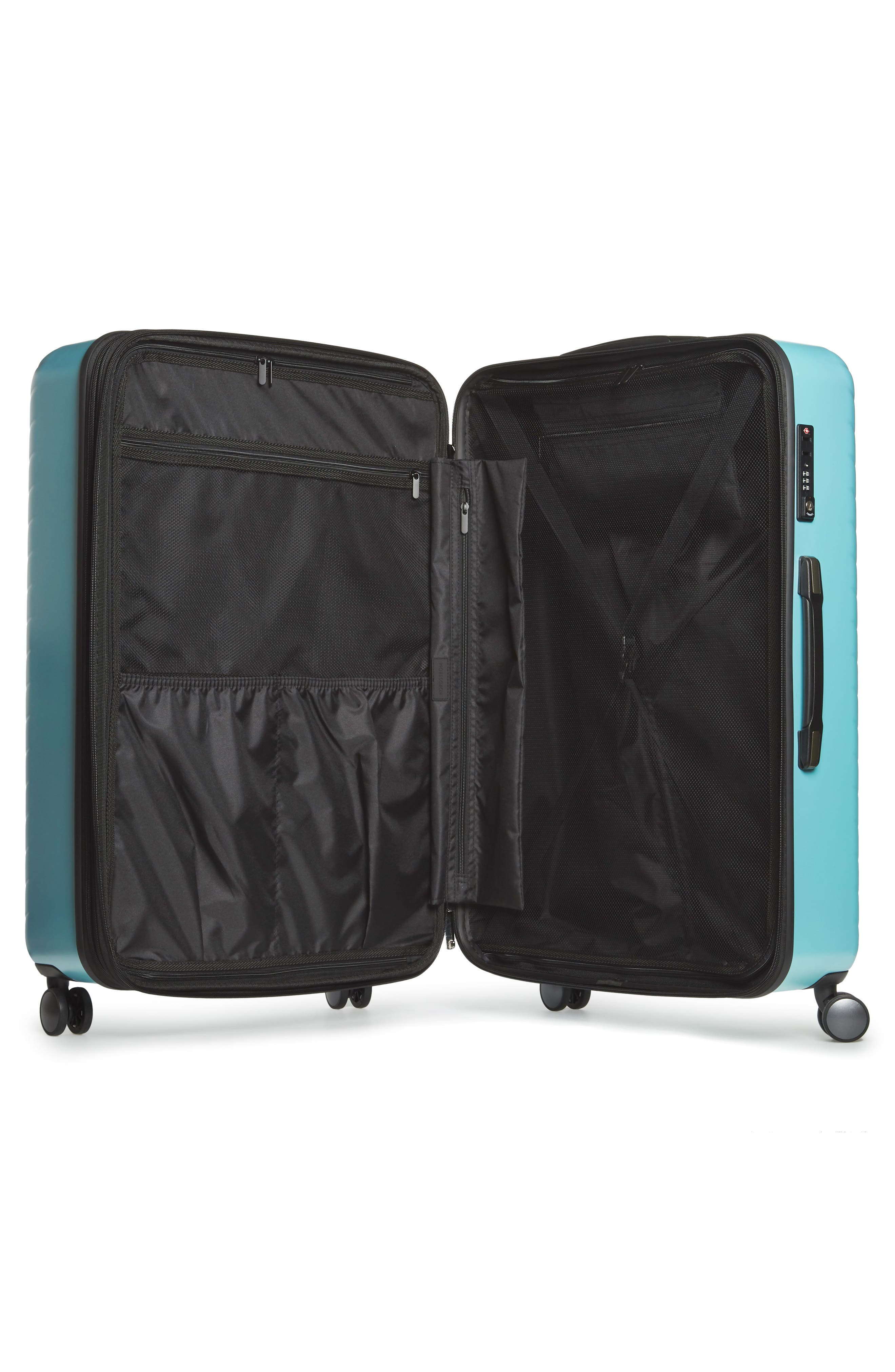 Chevron 29-Inch & 18-Inch Spinner Luggage Set,                             Alternate thumbnail 2, color,                             Teal Surf