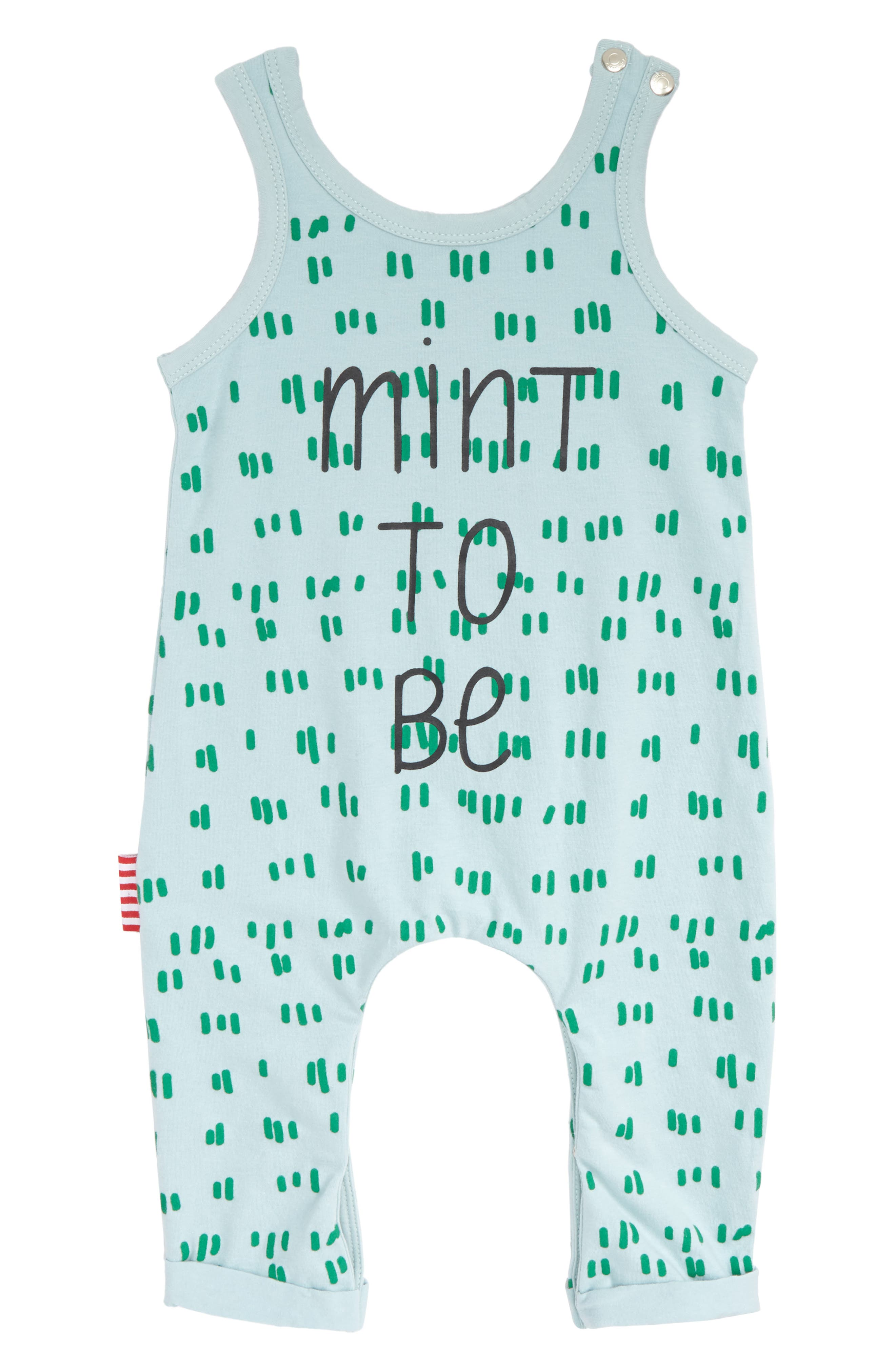 Mint to Be Romper,                             Main thumbnail 1, color,                             Mint