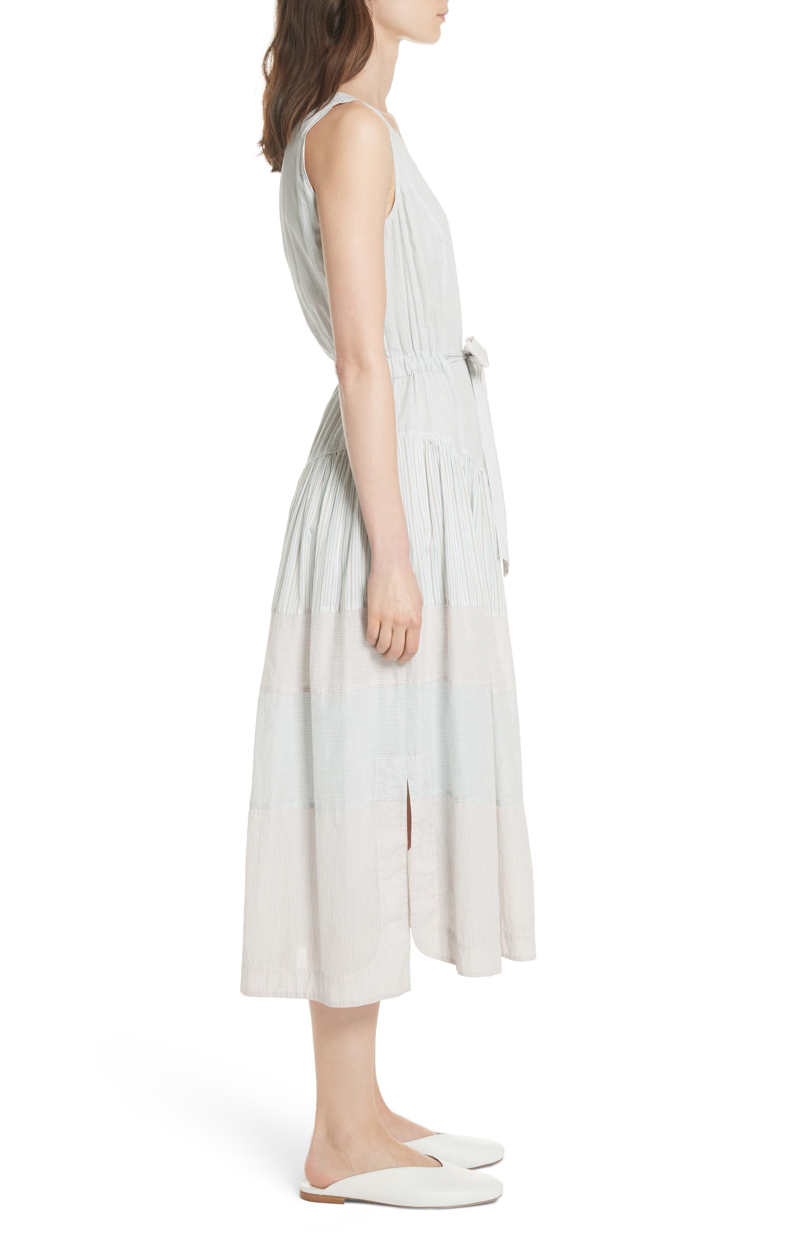 Mix Stripe Cotton Dress,                             Alternate thumbnail 3, color,                             Multi Combo